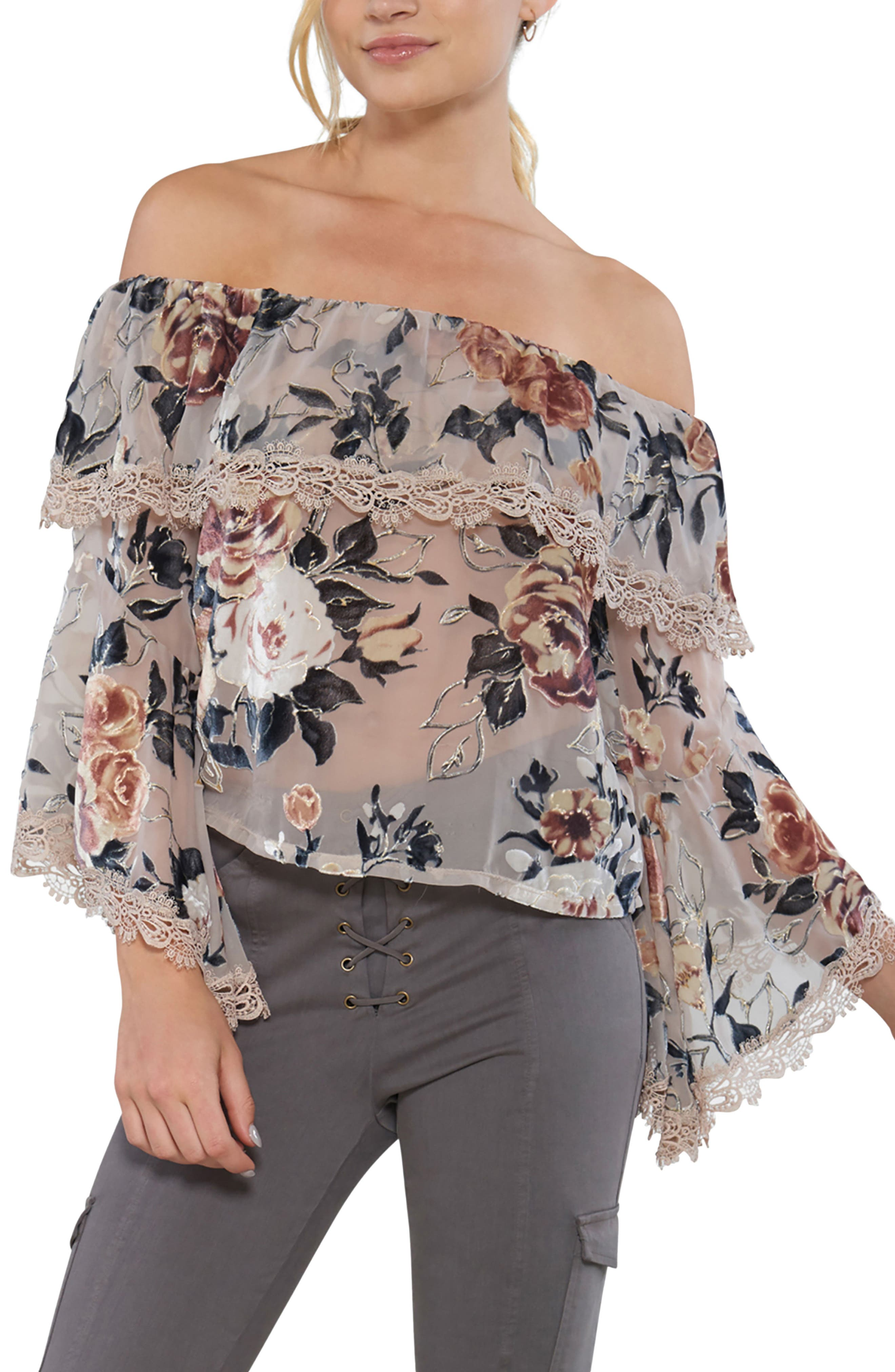 Off the Shoulder Top,                             Main thumbnail 1, color,                             901