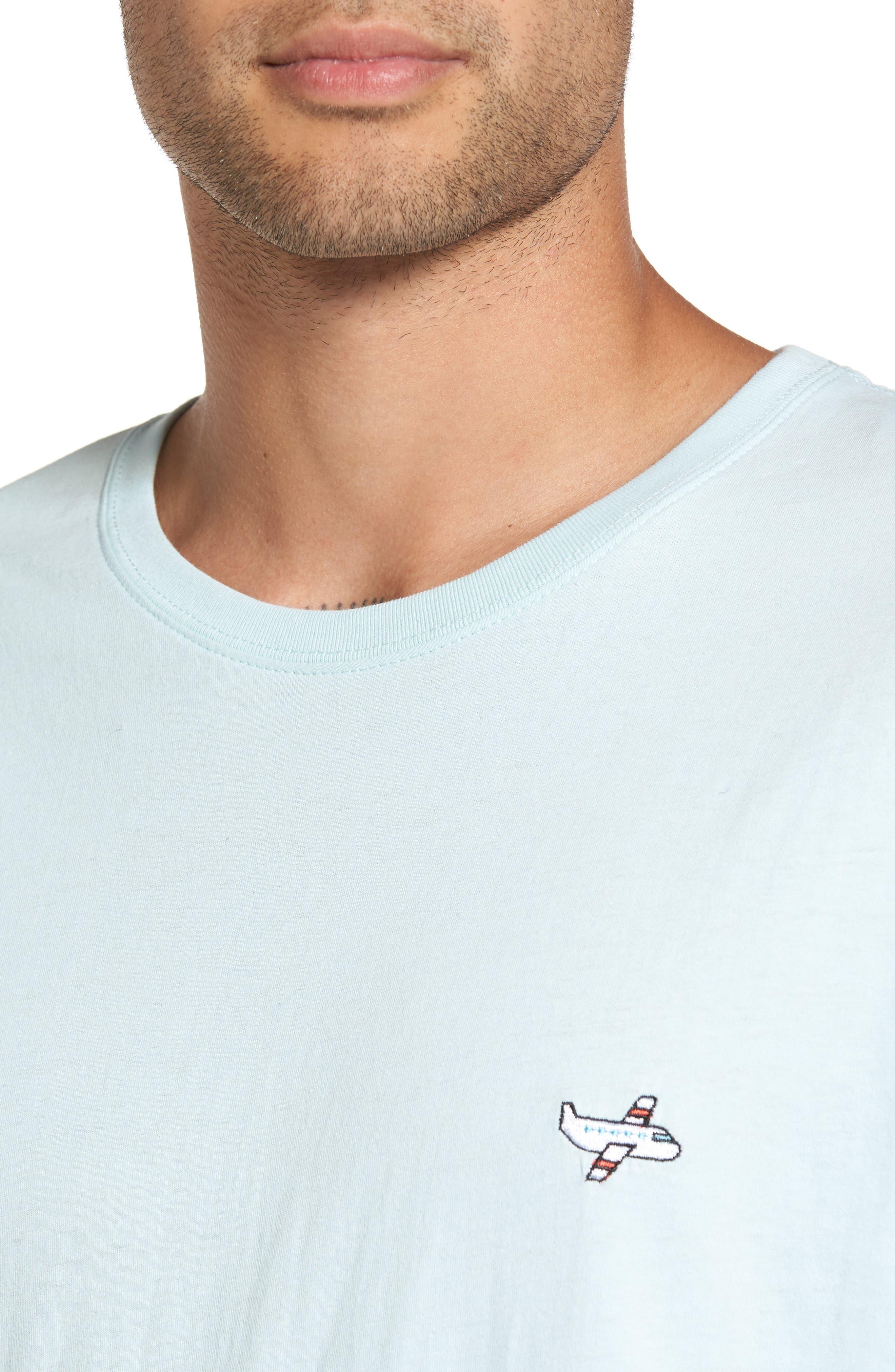 Aeroplane Appliqué T-Shirt,                             Alternate thumbnail 4, color,                             440