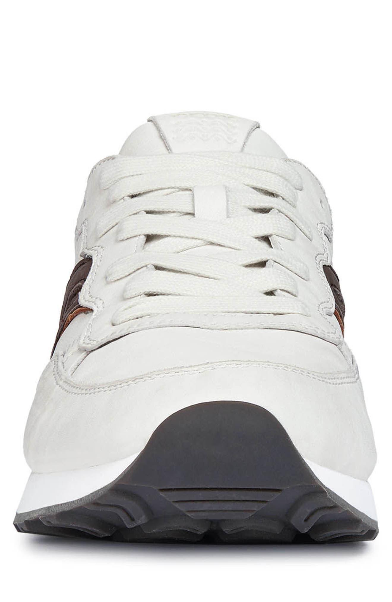 Vincint 1 Sneaker,                             Alternate thumbnail 4, color,                             WHITE/ DARK COFFEE LEATHER