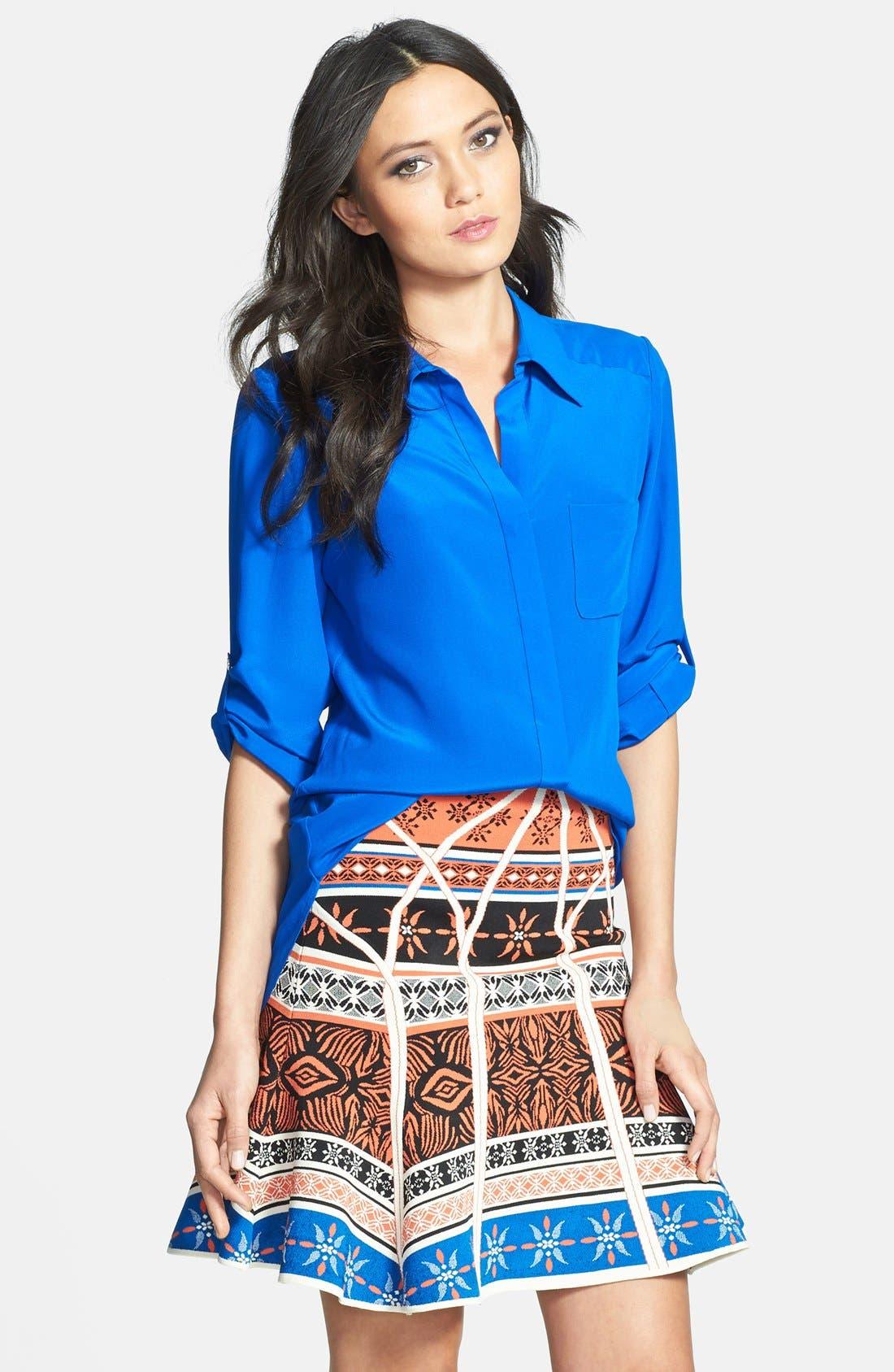 'Lorelei 2' Silk Shirt, Main, color, 430