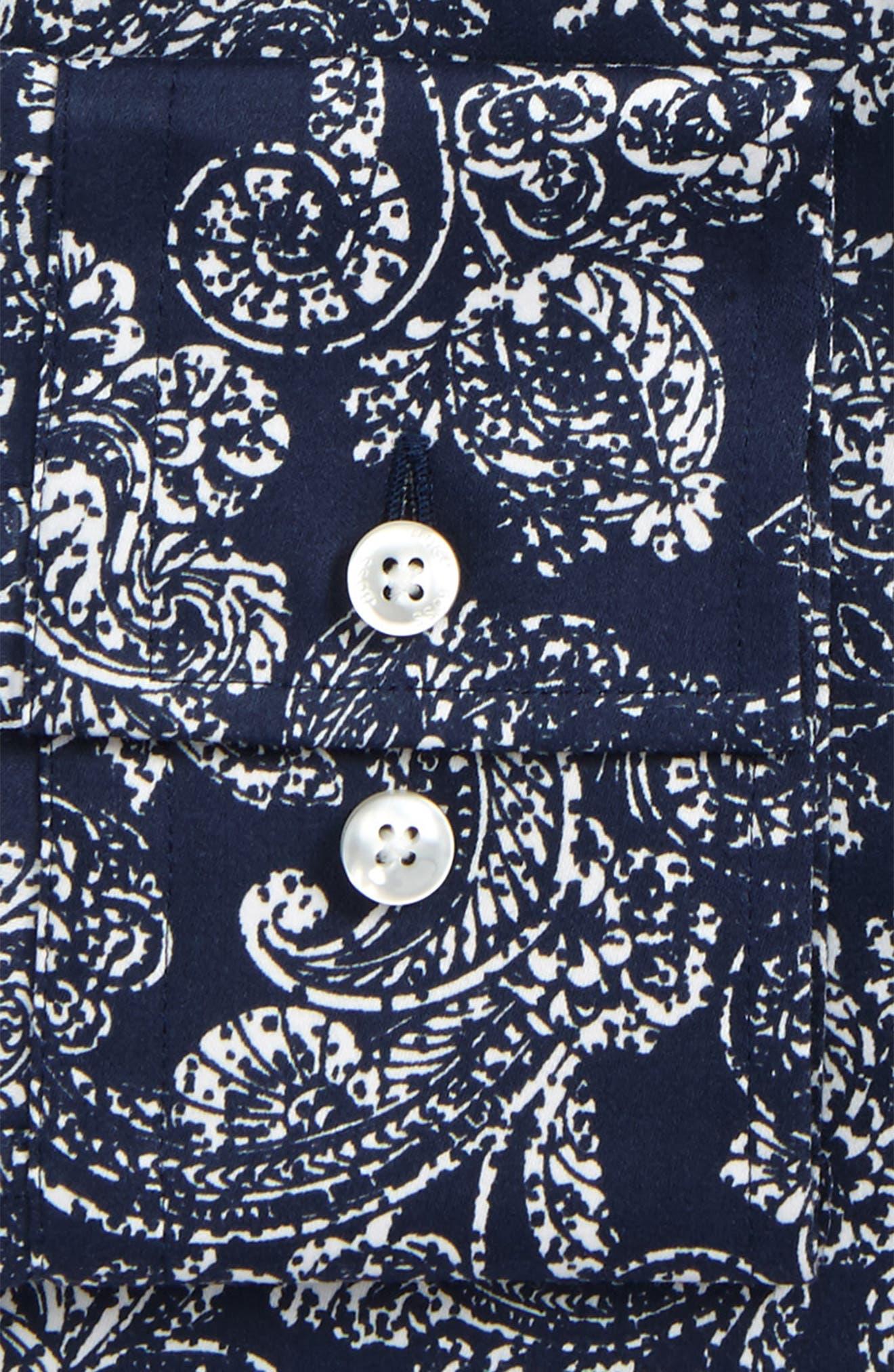 Slim Fit Paisley Dress Shirt,                             Alternate thumbnail 2, color,                             410