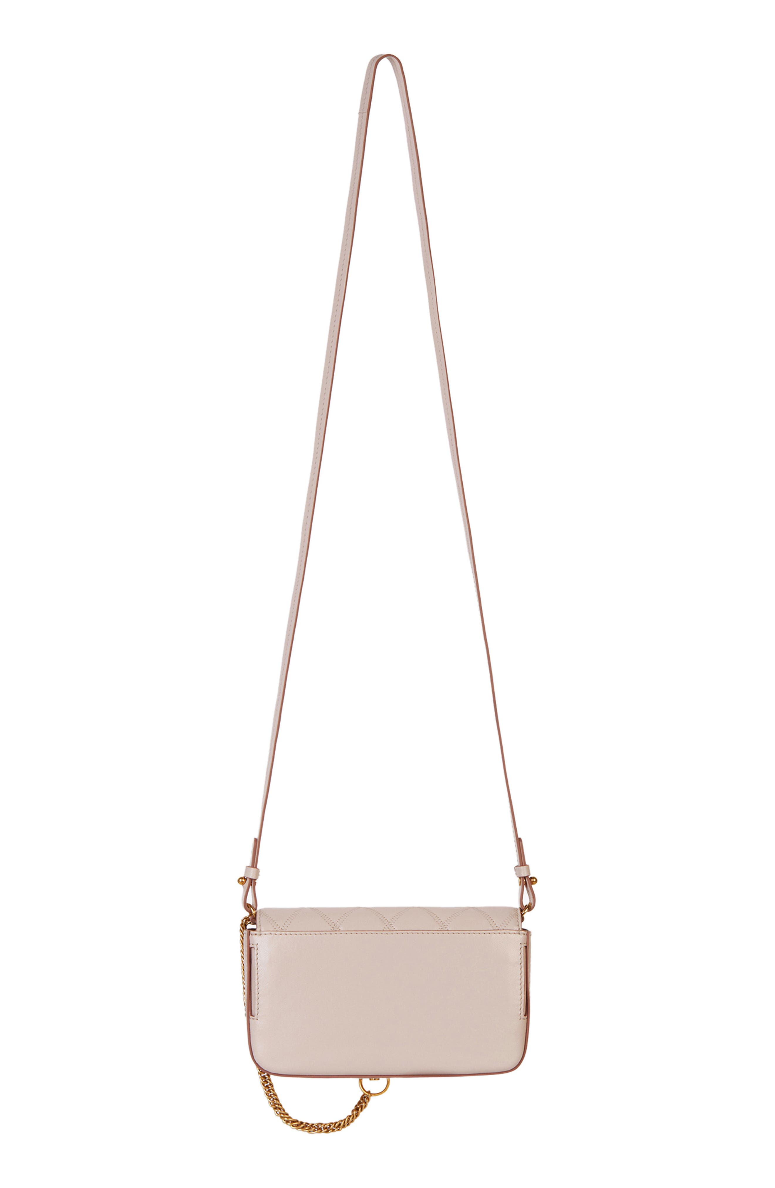 GIVENCHY,                             Mini Pocket Quilted Convertible Leather Bag,                             Alternate thumbnail 2, color,                             PALE PINK