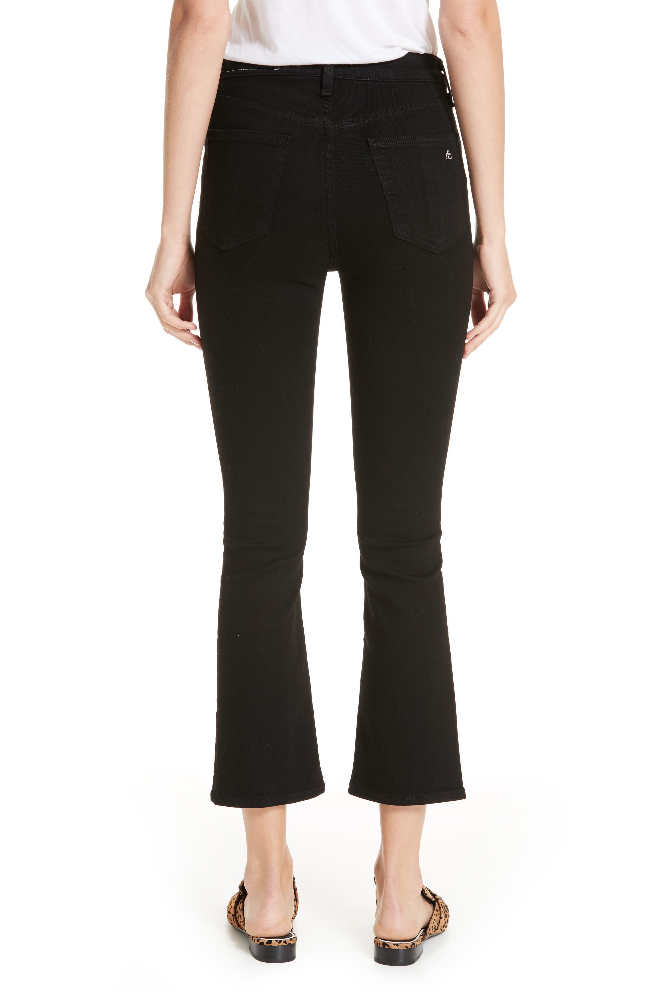 RAG & BONE,                             Hana High Waist Ankle Flare Jeans,                             Alternate thumbnail 2, color,                             001