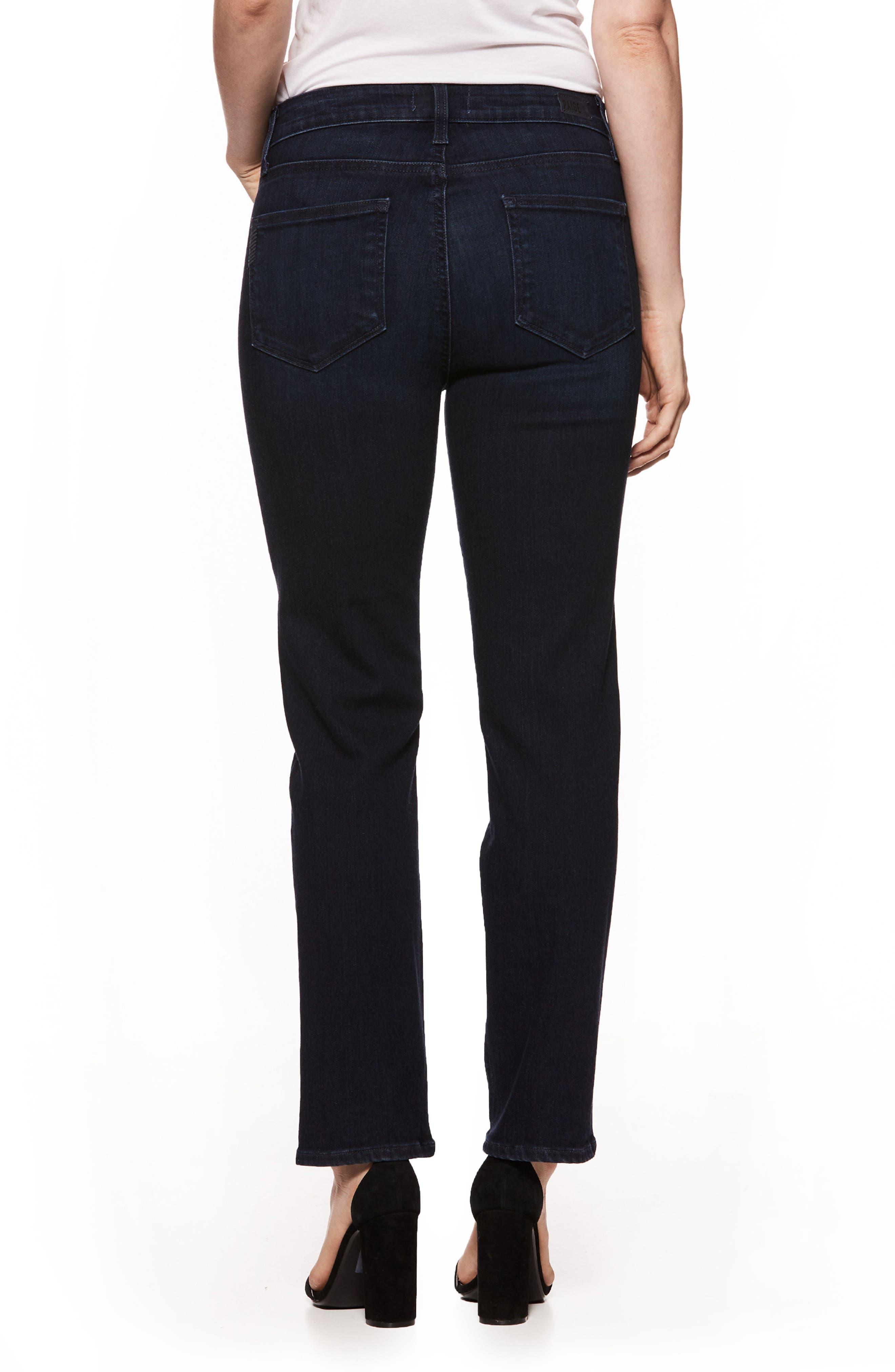 Jacqueline High Waist Crop Straight Leg Jeans,                             Alternate thumbnail 2, color,
