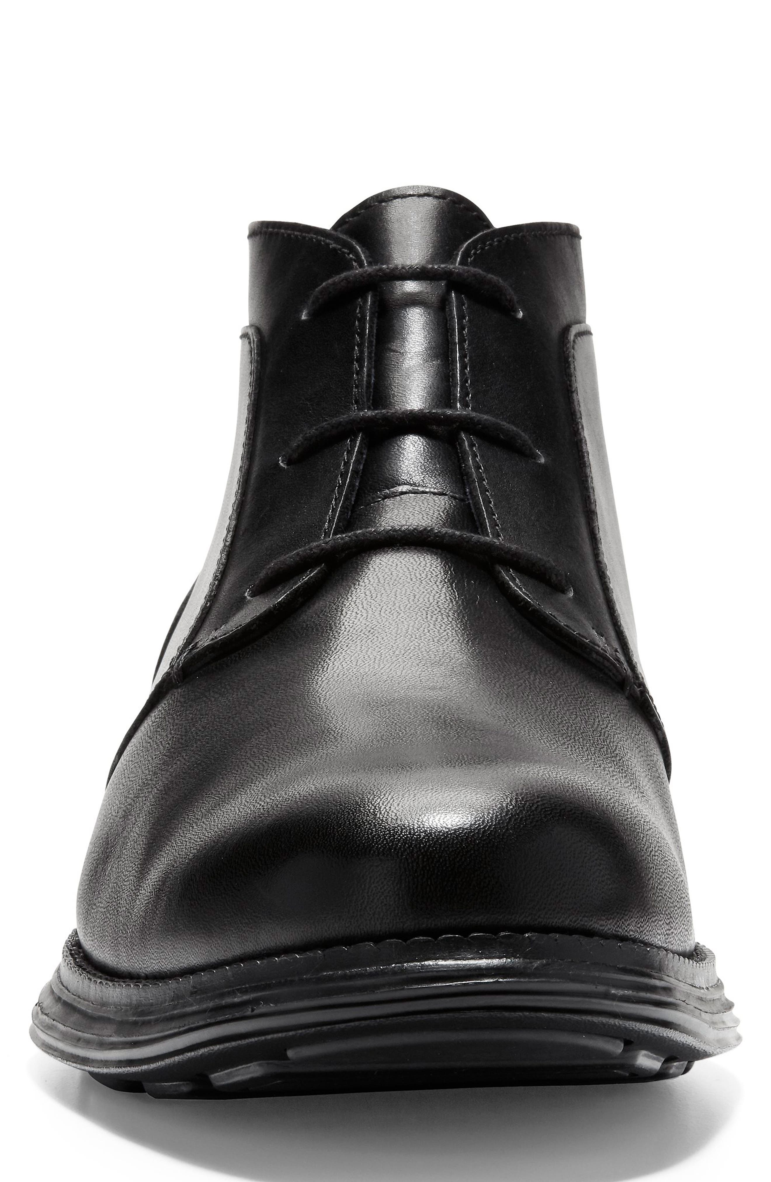 Original Grand Chukka Boot,                             Alternate thumbnail 4, color,                             BLACK LEATHER