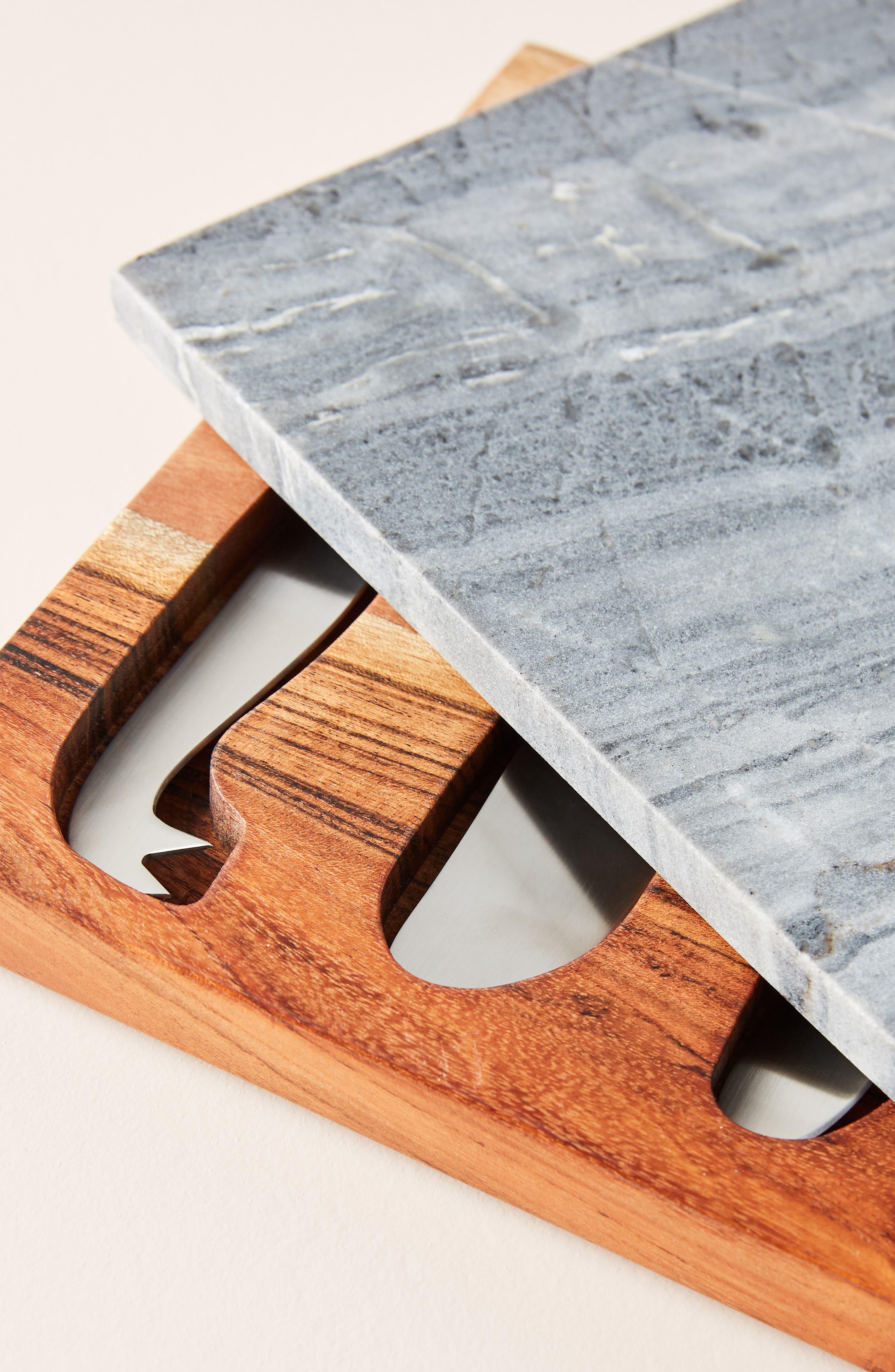 Swivel Cheeseboard & Set of 3 Knives,                             Alternate thumbnail 2, color,                             020