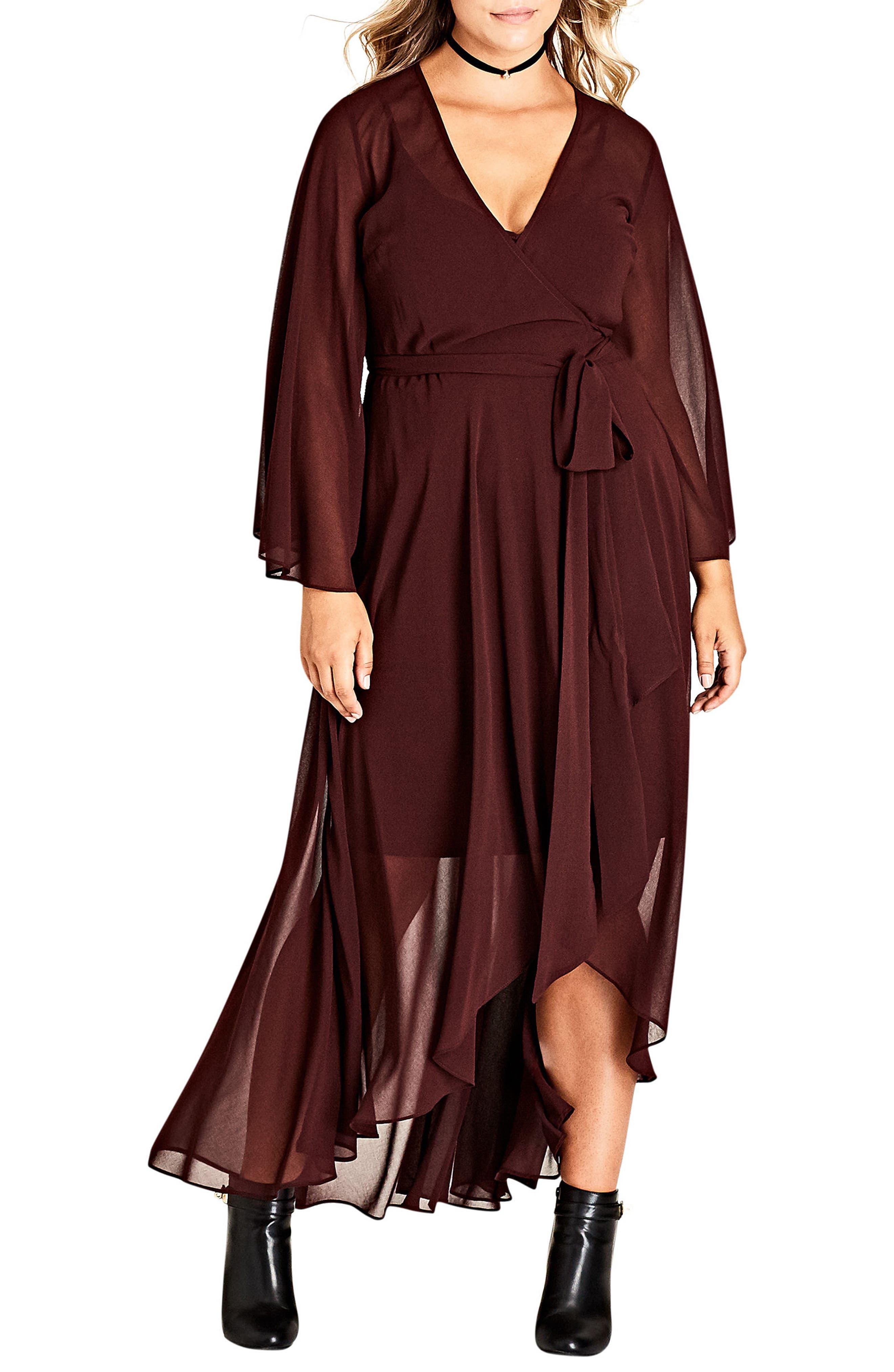 'Fleetwood' Maxi Dress,                             Main thumbnail 1, color,                             CLARET