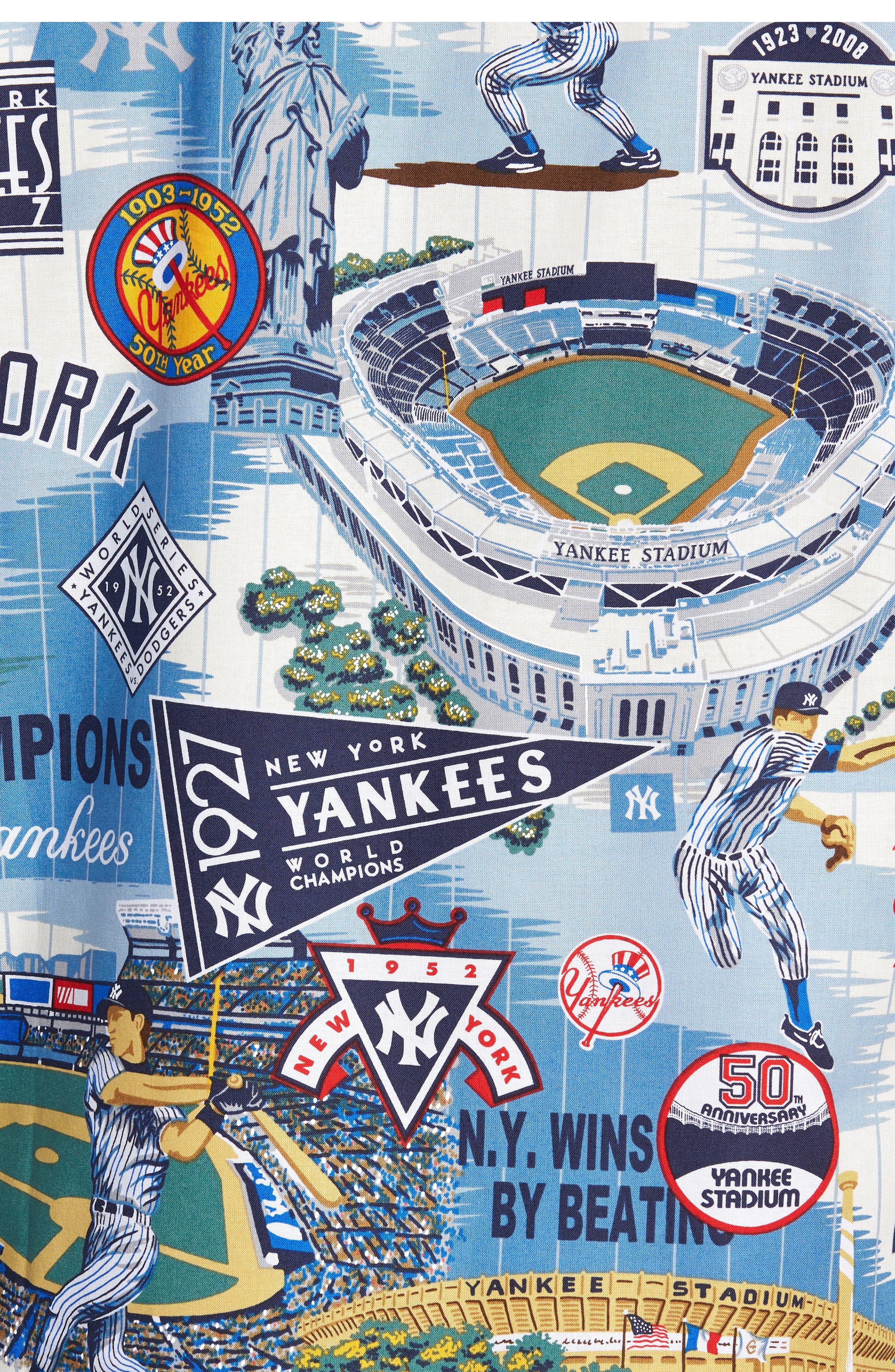 New York Yankees Classic Fit Camp Shirt,                             Alternate thumbnail 5, color,                             115
