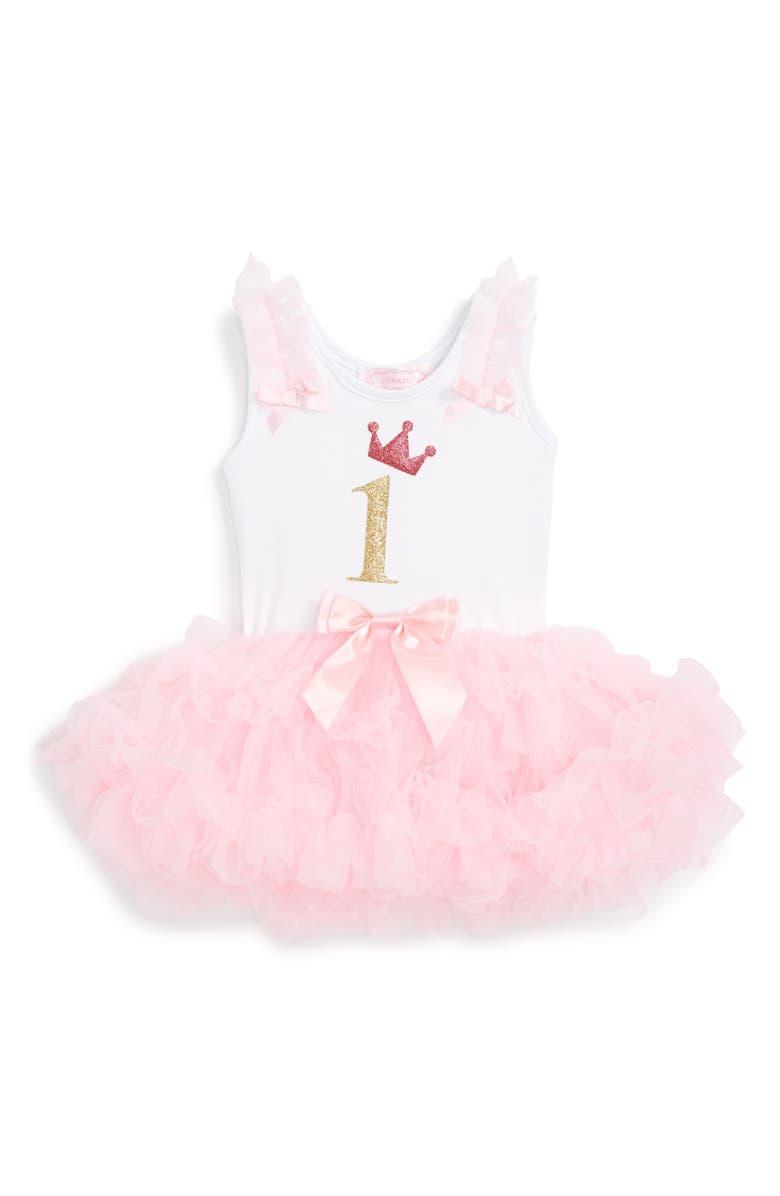 POPATU Birthday Tutu Dress Main Color PINK