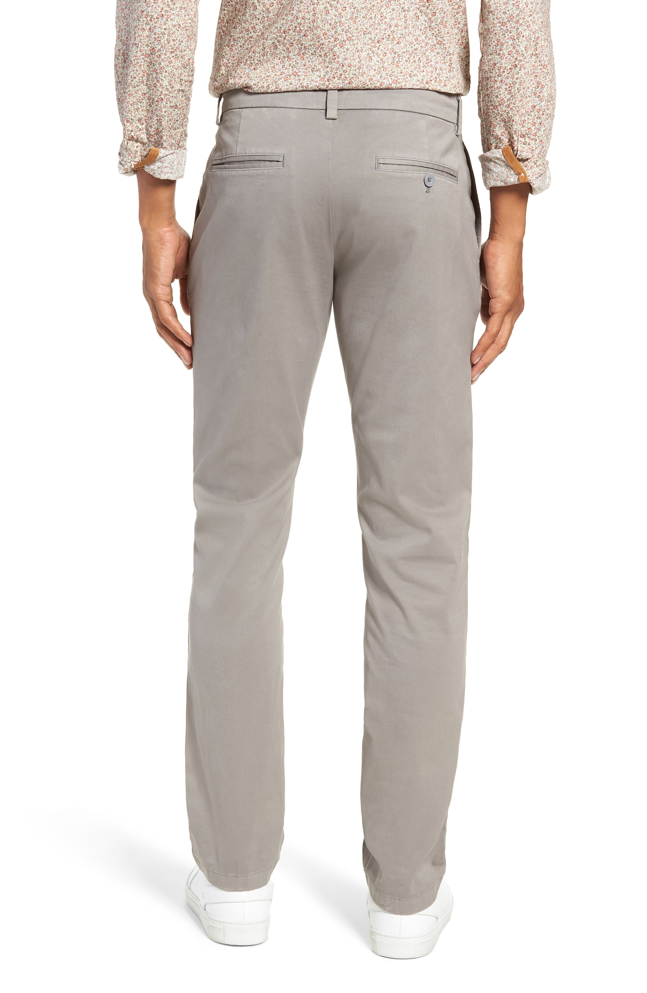 Stretch Slim Fit Pants,                             Alternate thumbnail 2, color,                             ANCHOR GREY