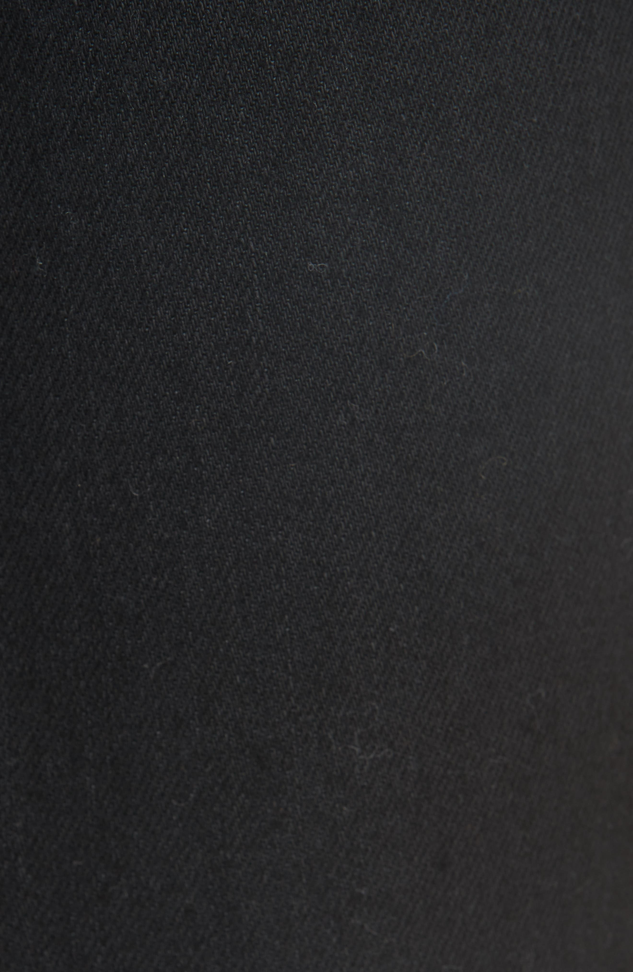 Patch Pocket Crop Flare Jeans,                             Alternate thumbnail 5, color,                             BLACK RINSE