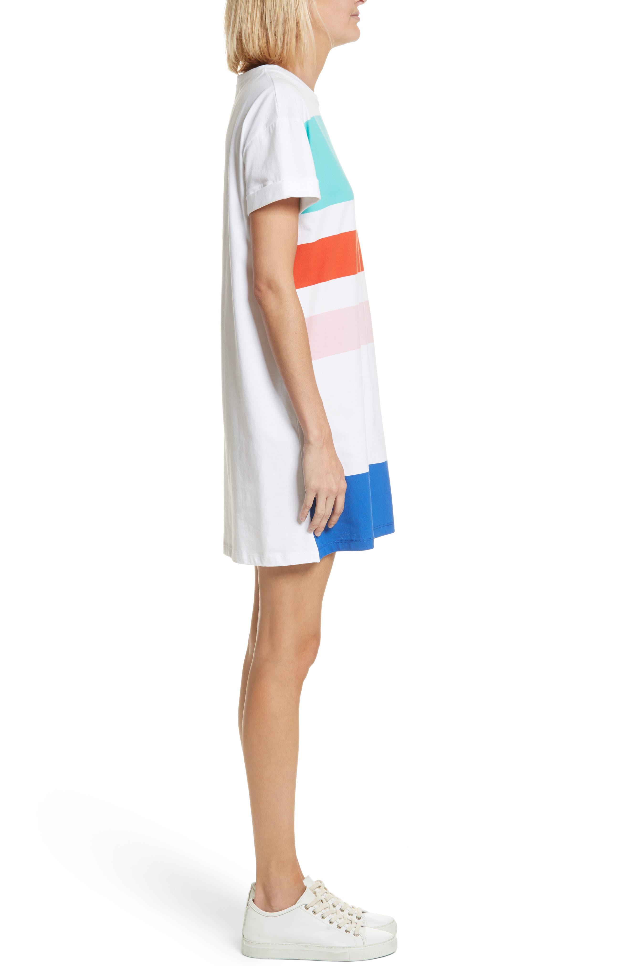 être cécile Big Stripe Oversize Dress,                             Alternate thumbnail 3, color,                             100