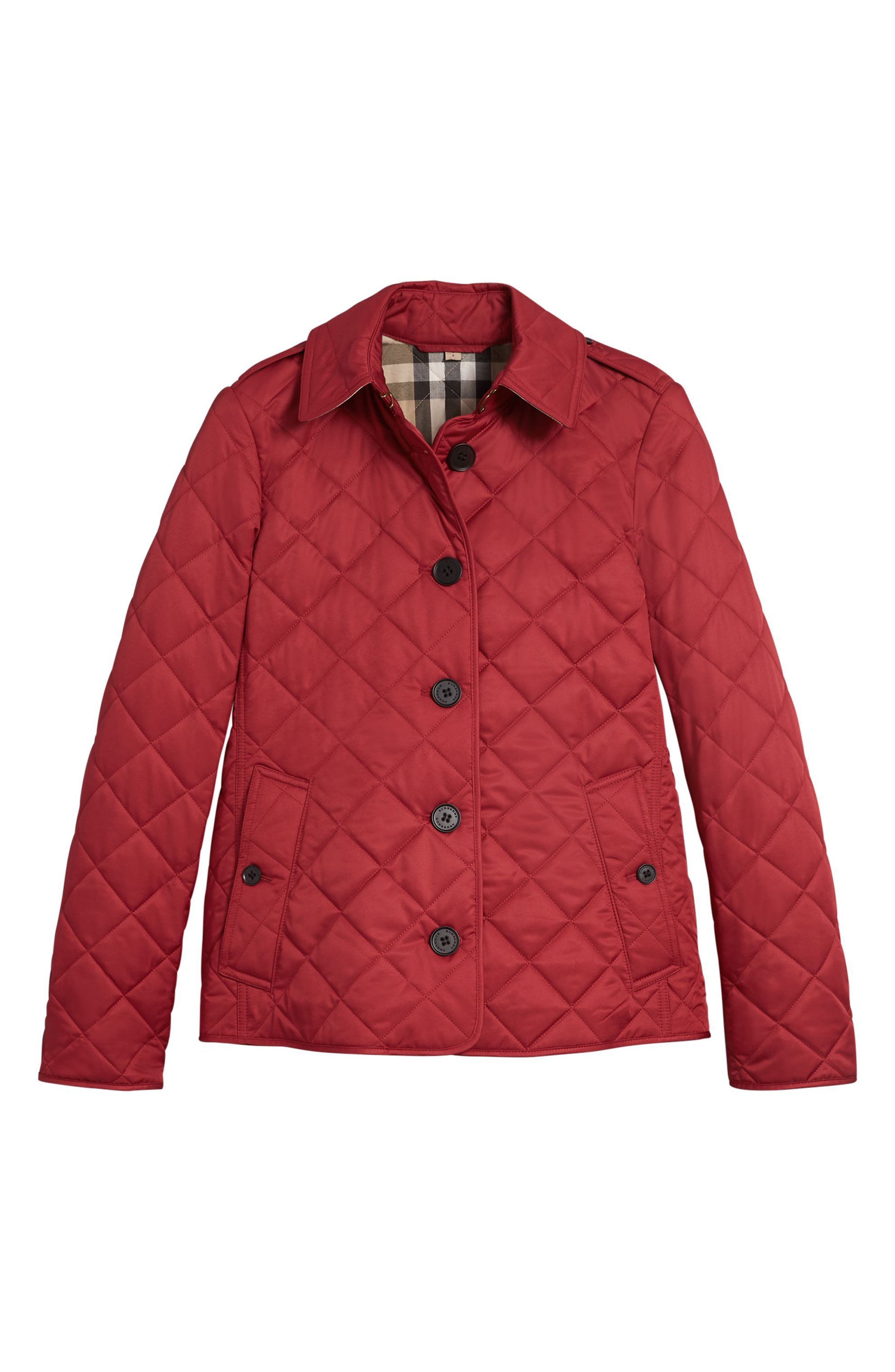 Frankby Quilted Jacket,                             Alternate thumbnail 5, color,                             PARADE RED