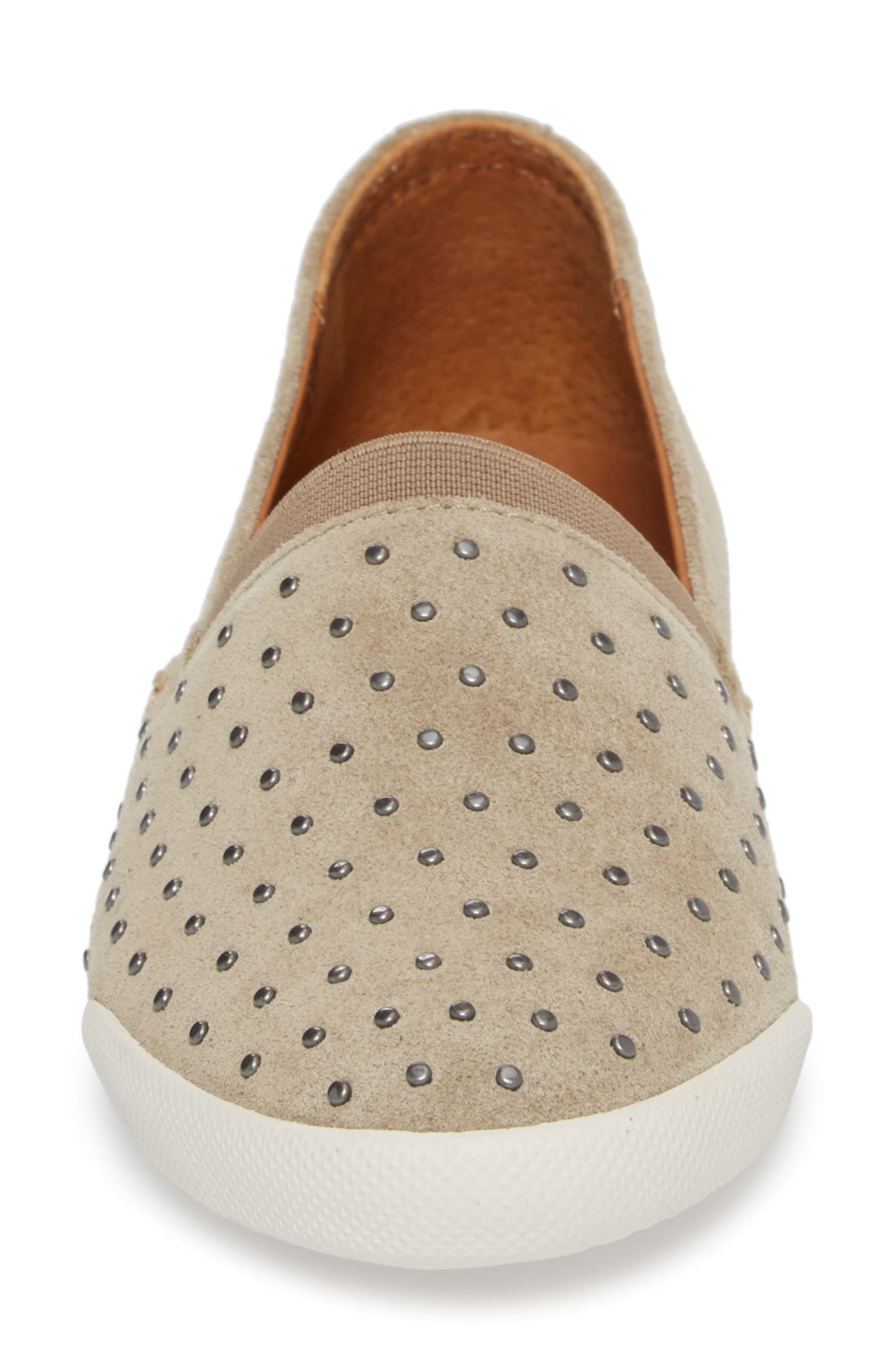 Melanie Stud Slip-On Sneaker,                             Alternate thumbnail 4, color,                             ASH