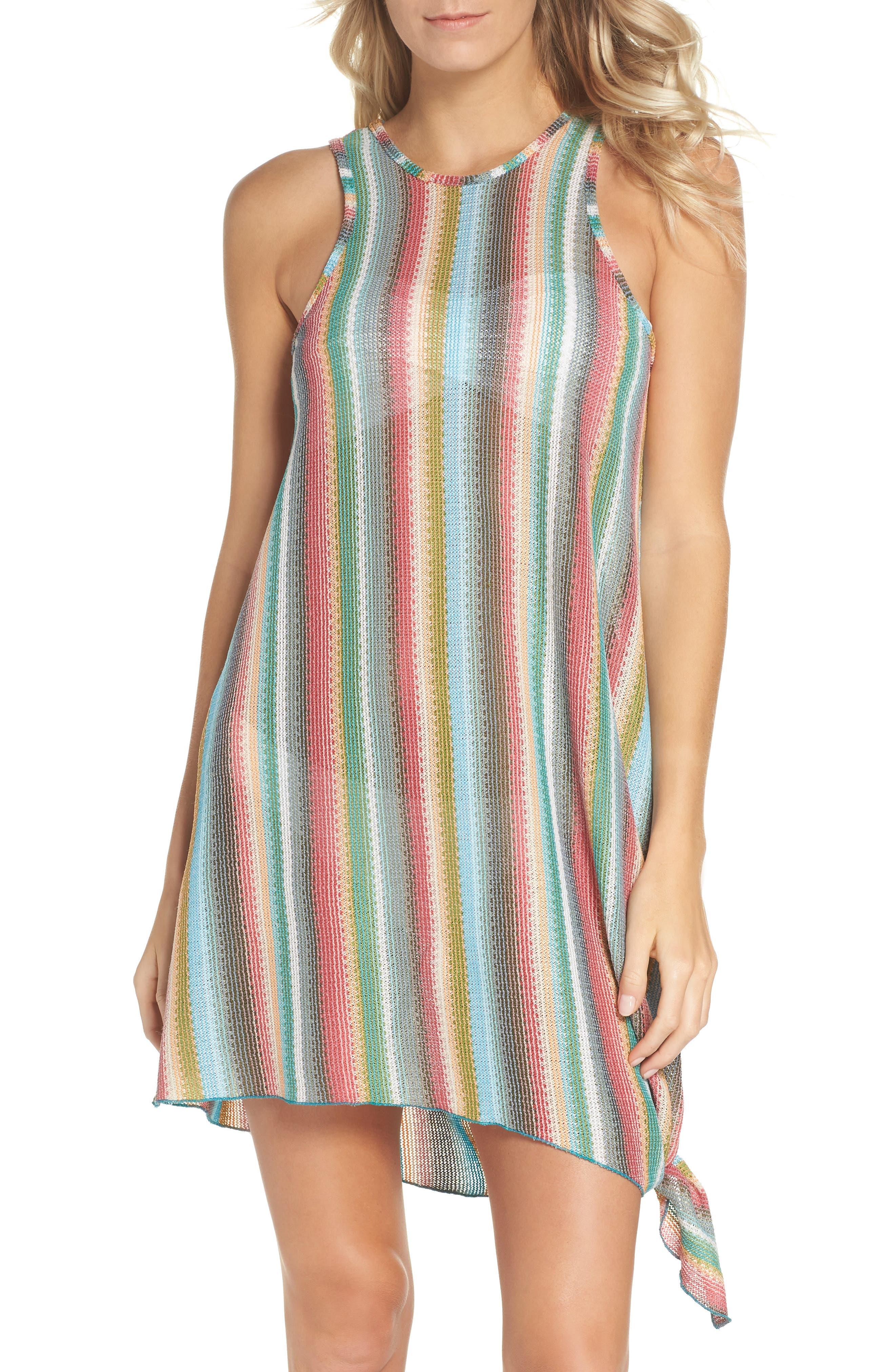 Becca Seville Stripe Cover-Up Dress, Orange