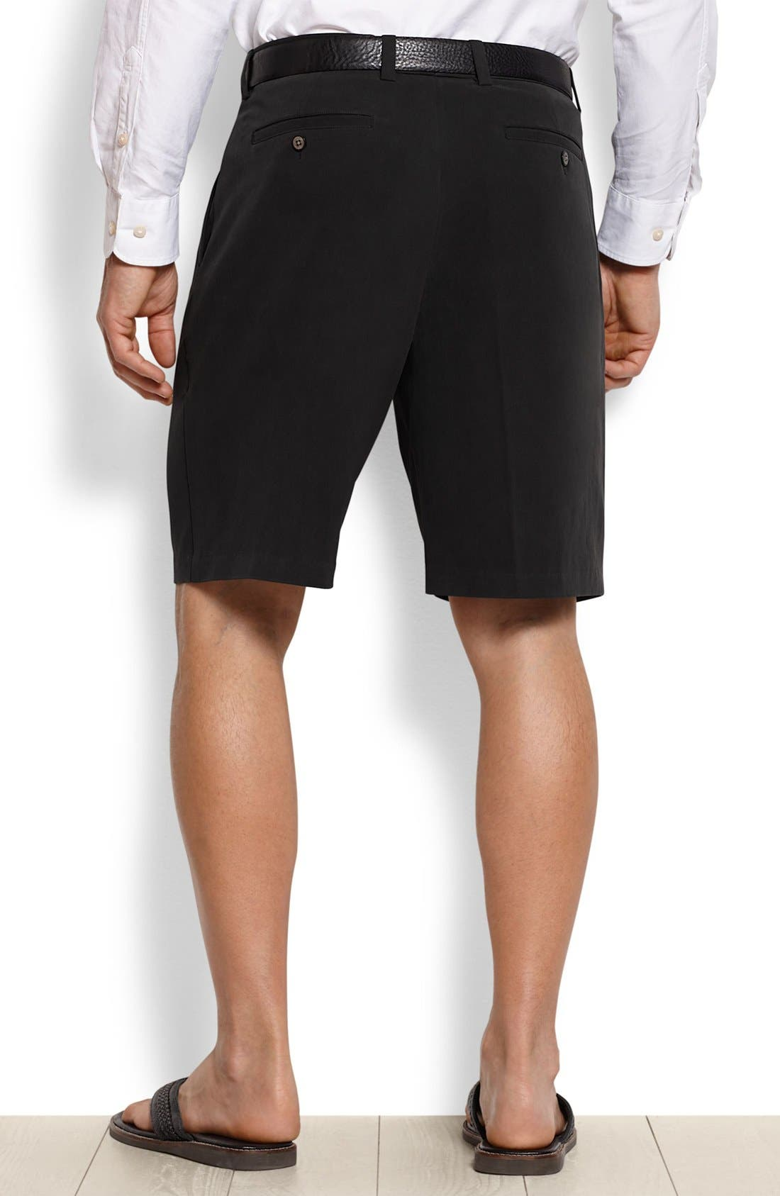 St. Thomas Pleated Shorts,                             Alternate thumbnail 2, color,                             001