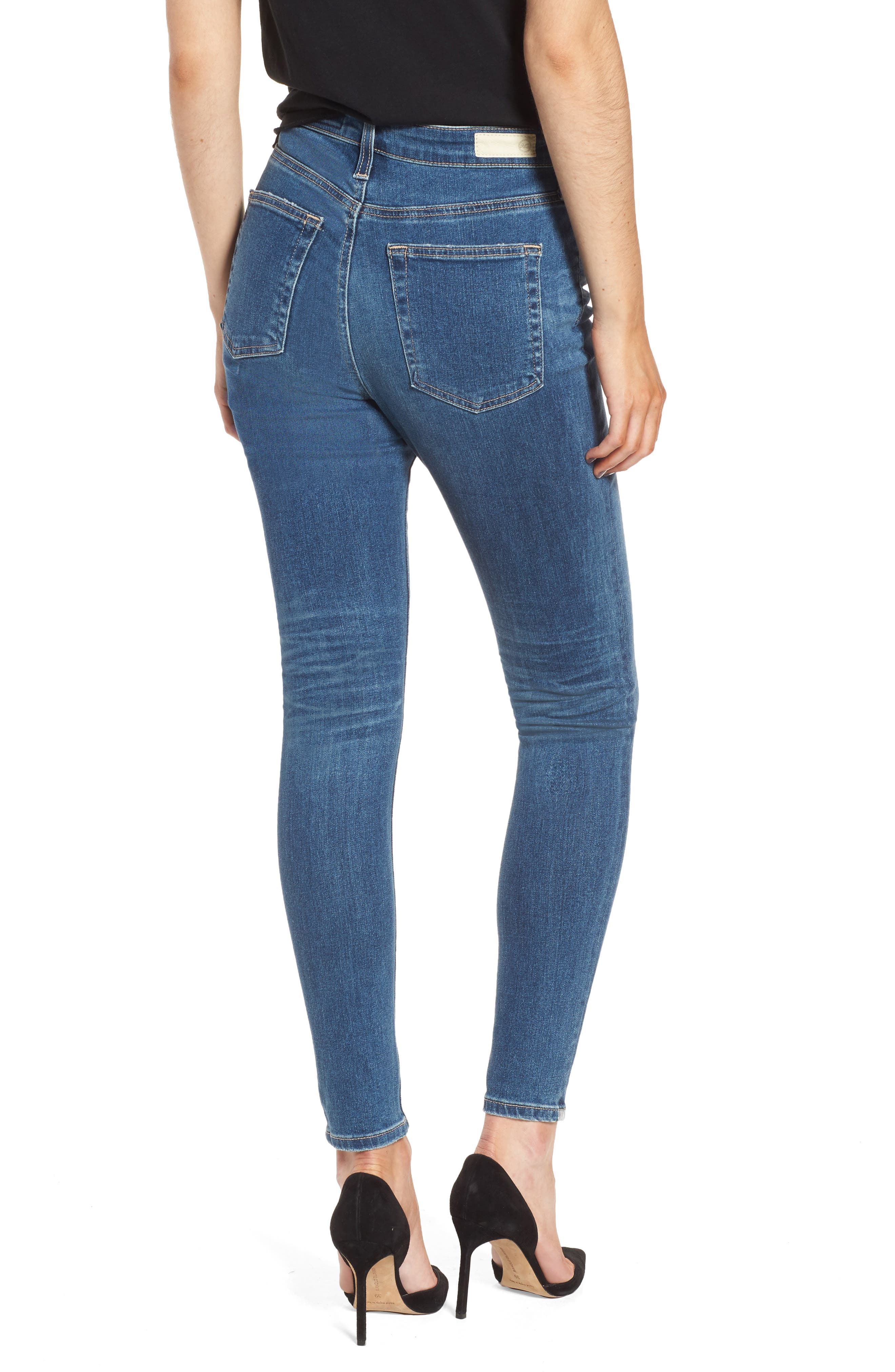 Mila Ankle Skinny Jeans,                             Alternate thumbnail 2, color,                             8 YEARS INFAMY
