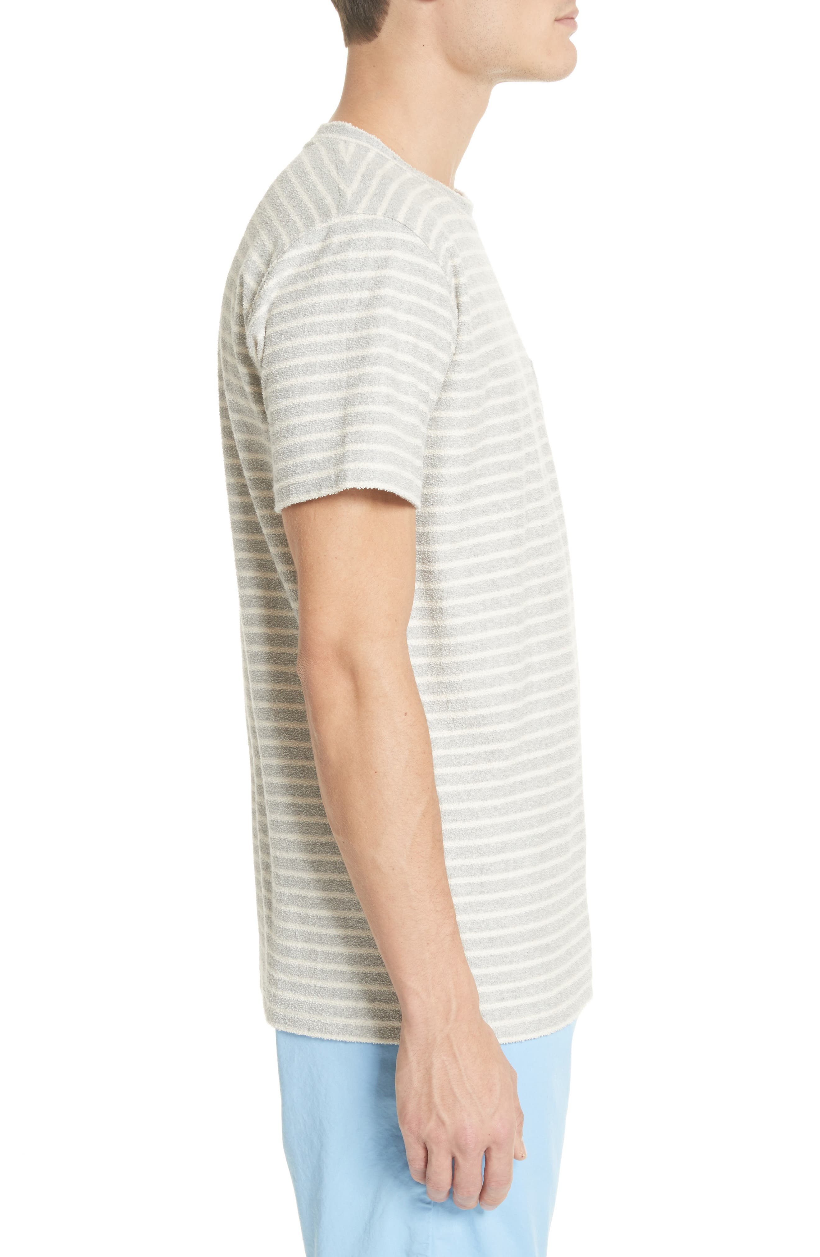 Niels Stripe Pocket T-Shirt,                             Alternate thumbnail 3, color,                             050