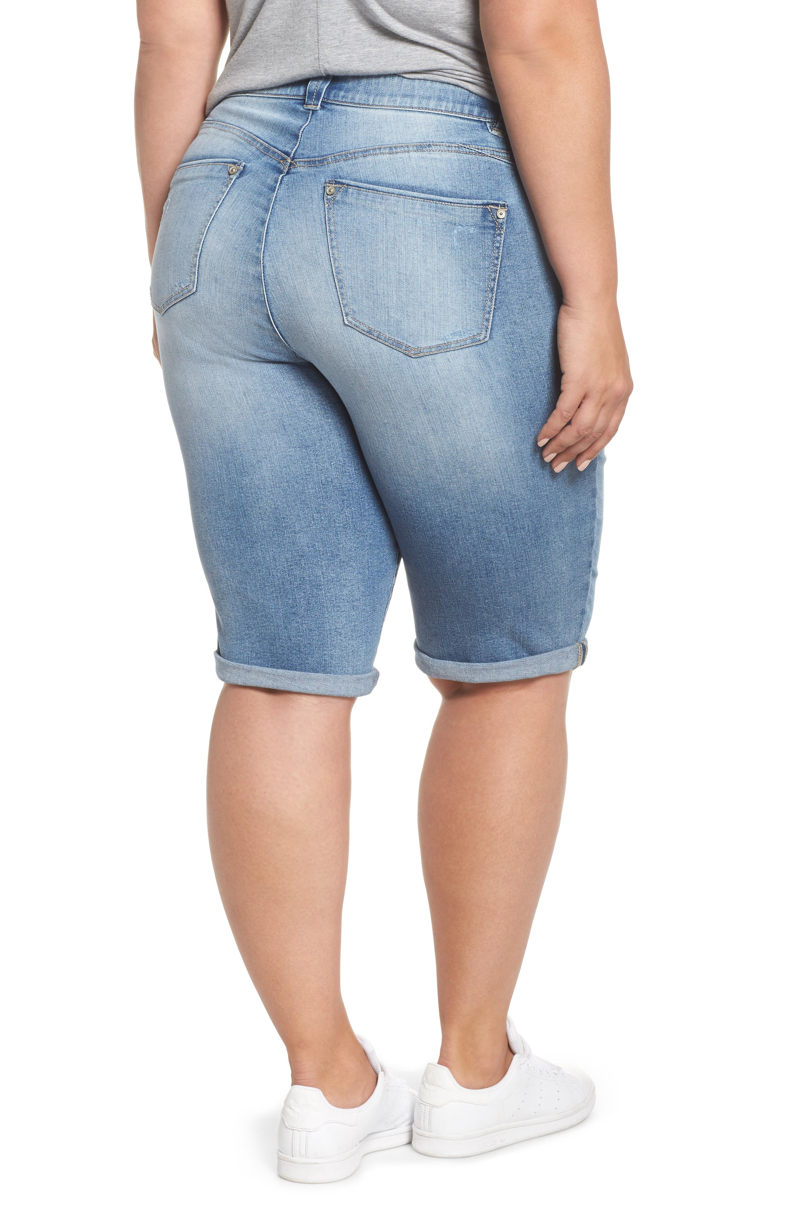 Ab-solution Cuffed Denim Shorts,                             Alternate thumbnail 2, color,                             458