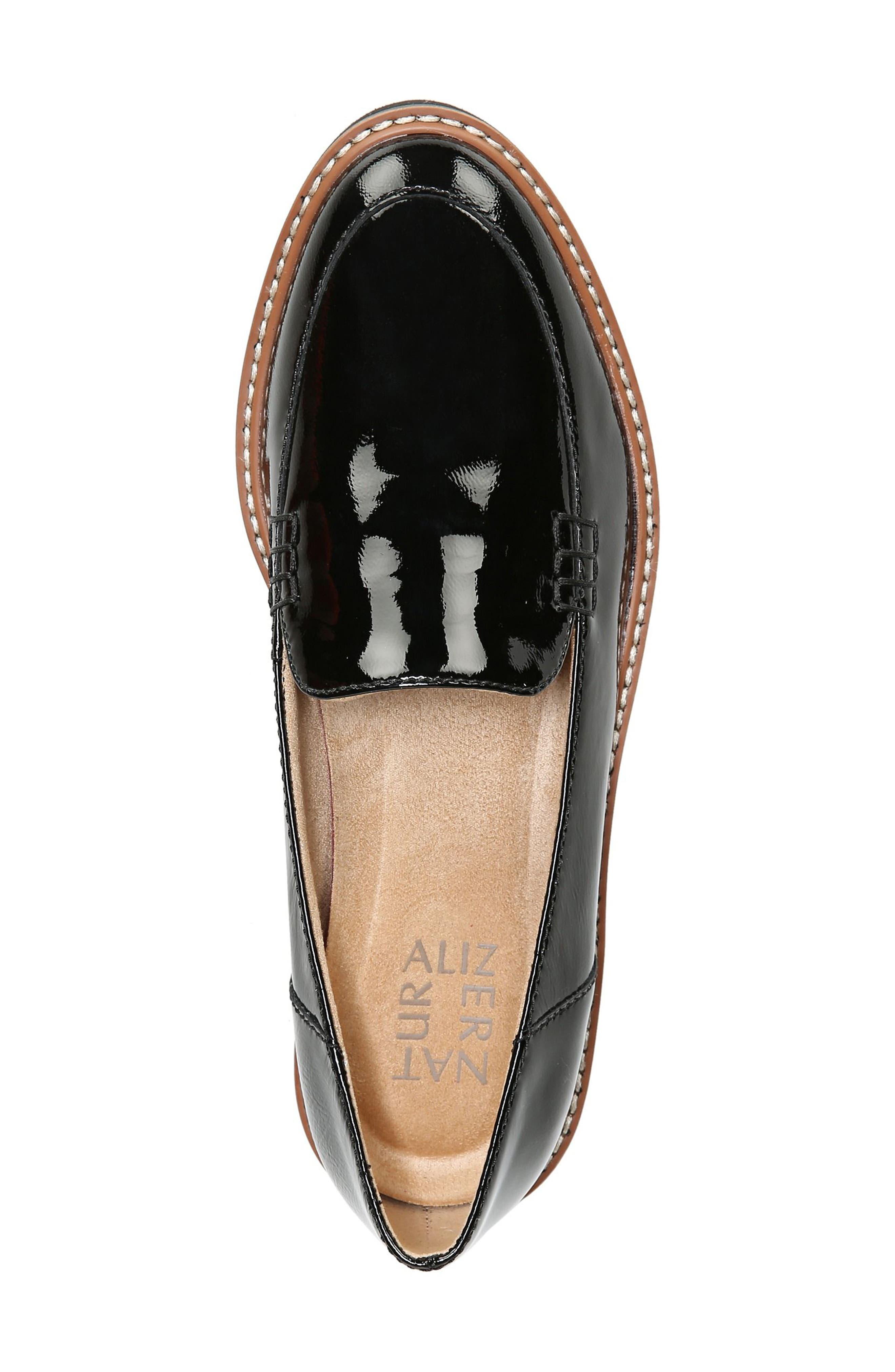 Andie Loafer,                             Alternate thumbnail 5, color,                             BLACK PATENT