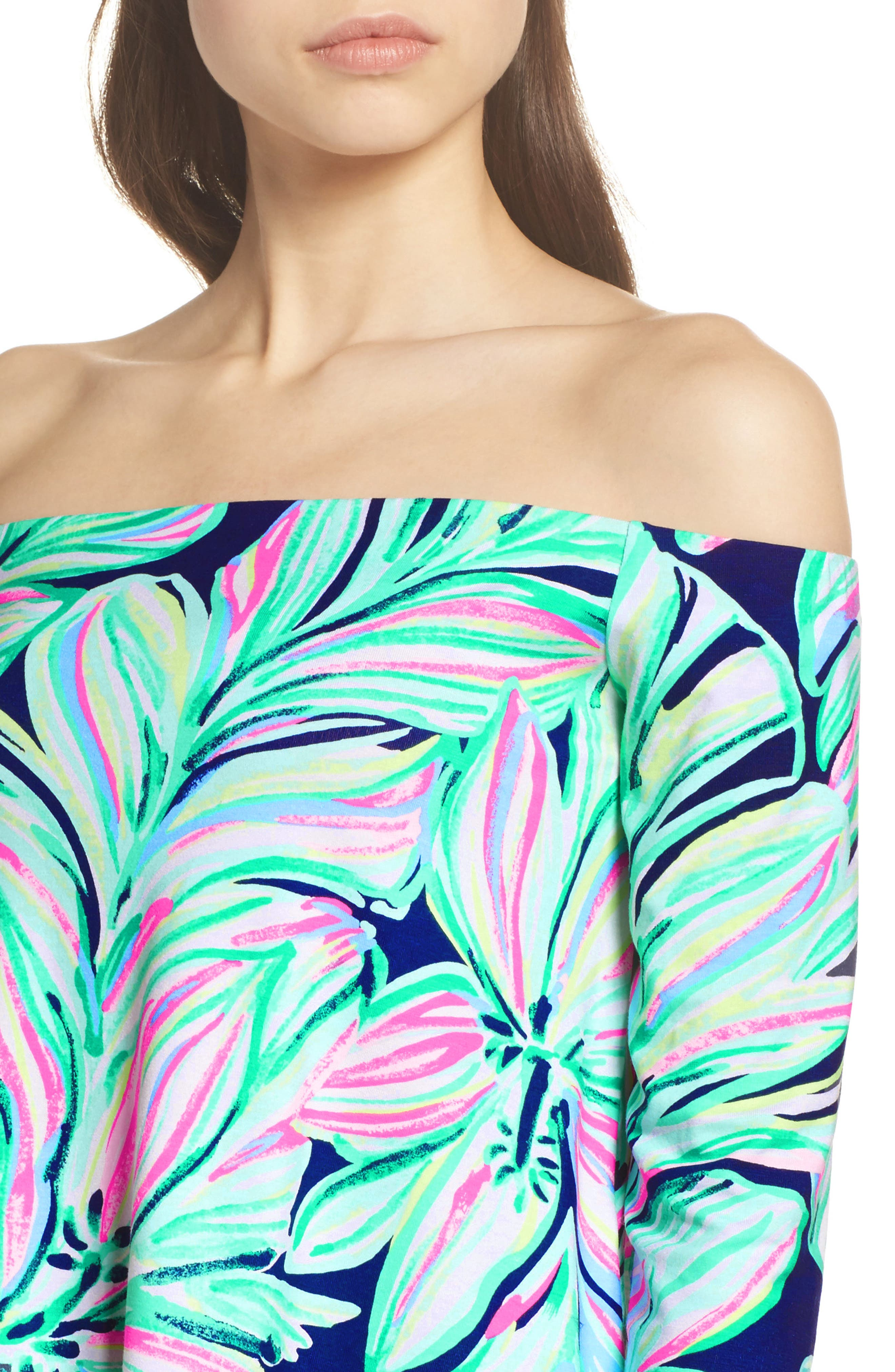 Weslee Floral Top & Pants,                             Alternate thumbnail 4, color,