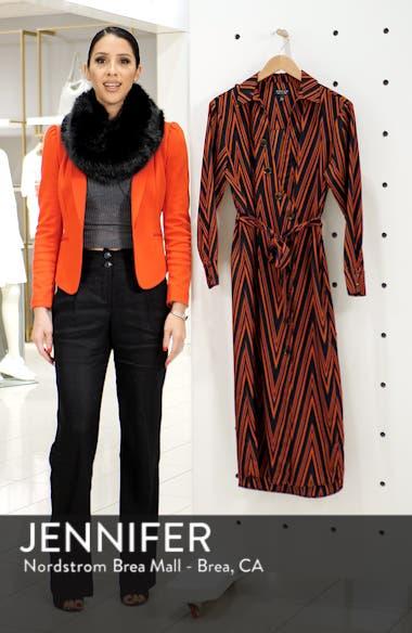 Horn Button Print Midi Dress, sales video thumbnail