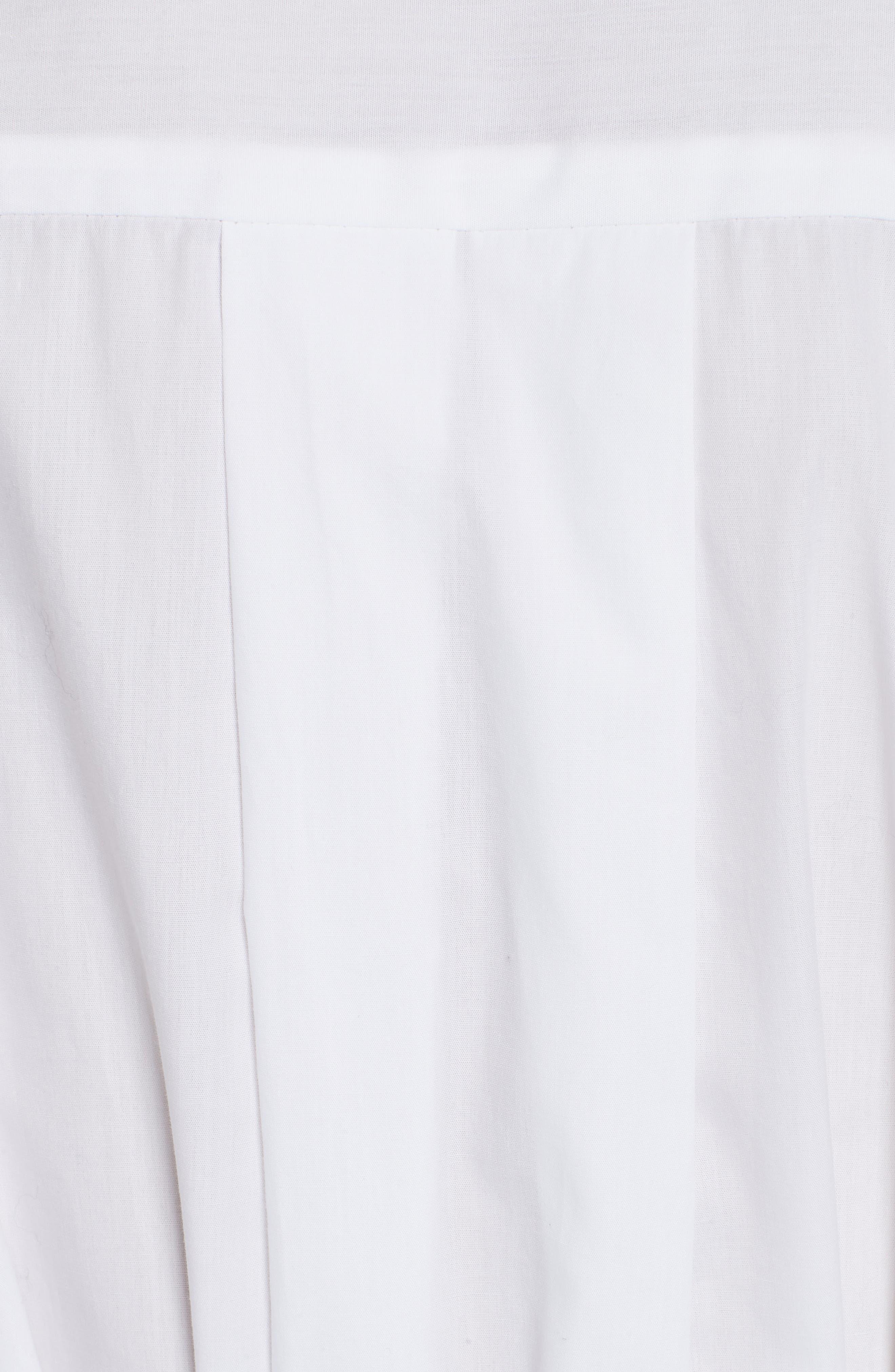 Sinclair Puff Sleeve Wrap Detail Shirt,                             Alternate thumbnail 5, color,                             WHITE