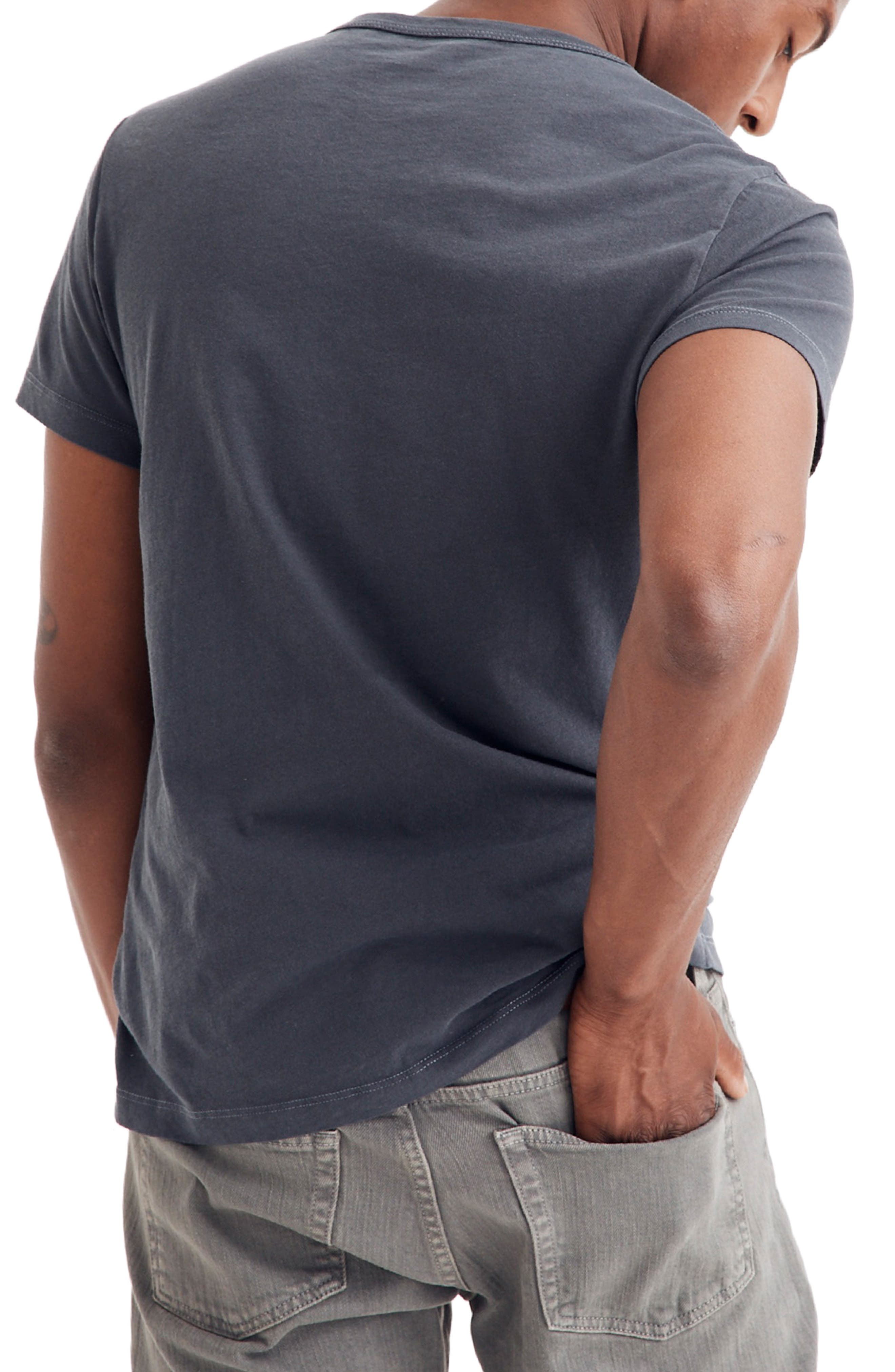 Crewneck T-Shirt,                             Alternate thumbnail 2, color,                             CLASSIC BLACK