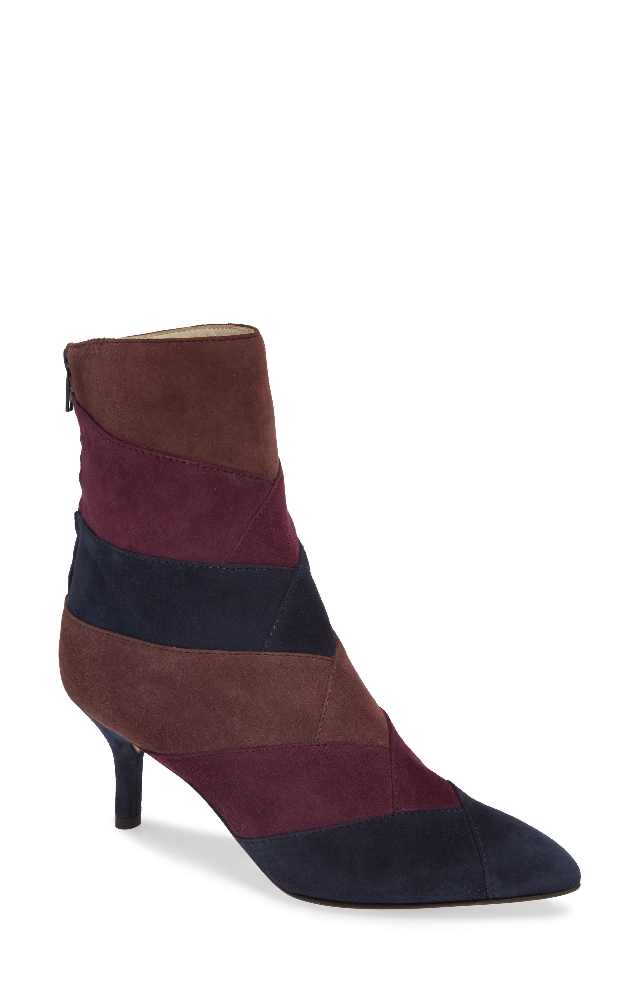 AMALFI BY RANGONI Pandora Colorblock Bootie in Navy Cashmere Suede