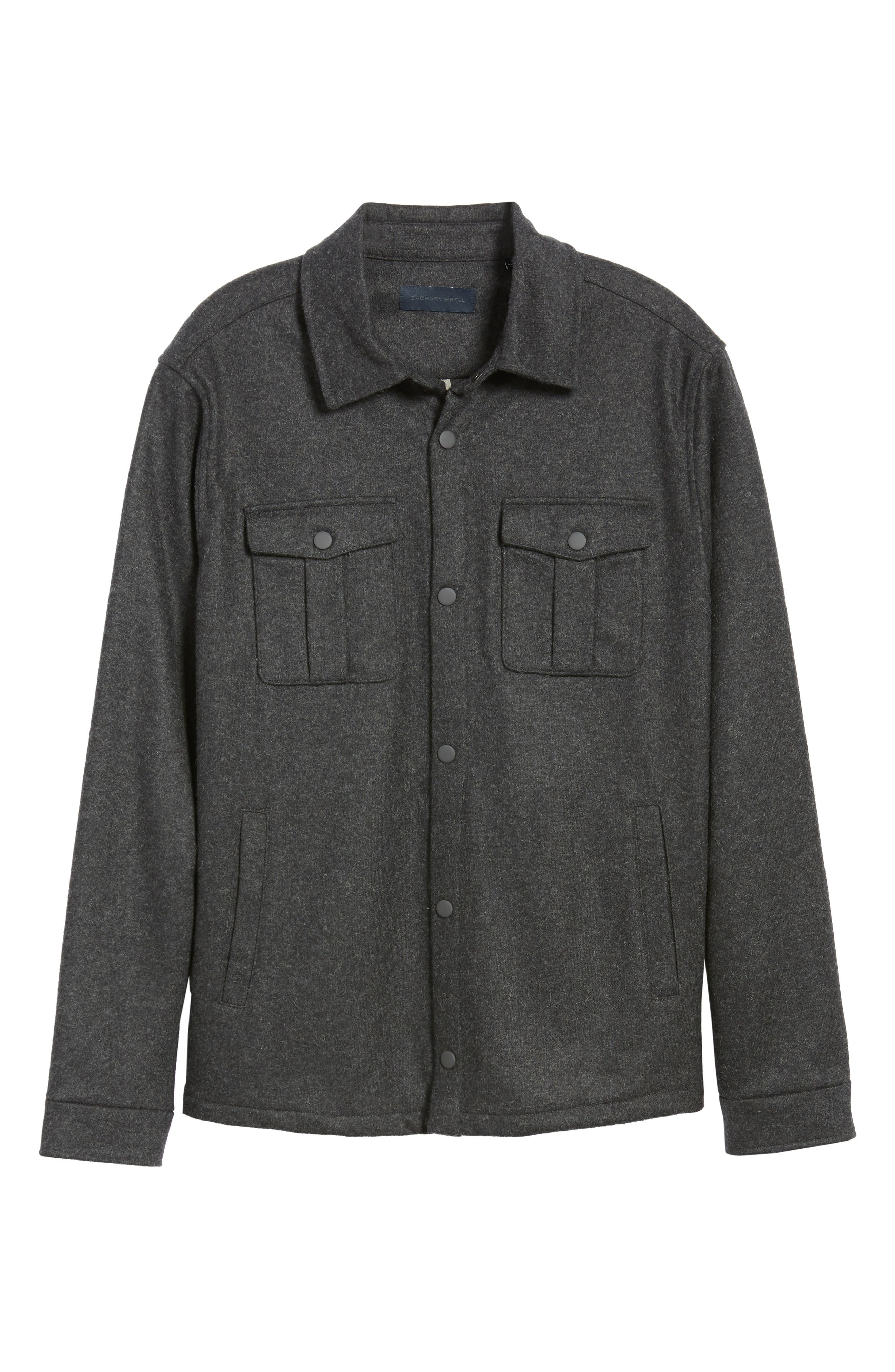 Seymour Regular Fit Wool Blend Shirt Jacket,                             Alternate thumbnail 6, color,                             DARK GREY