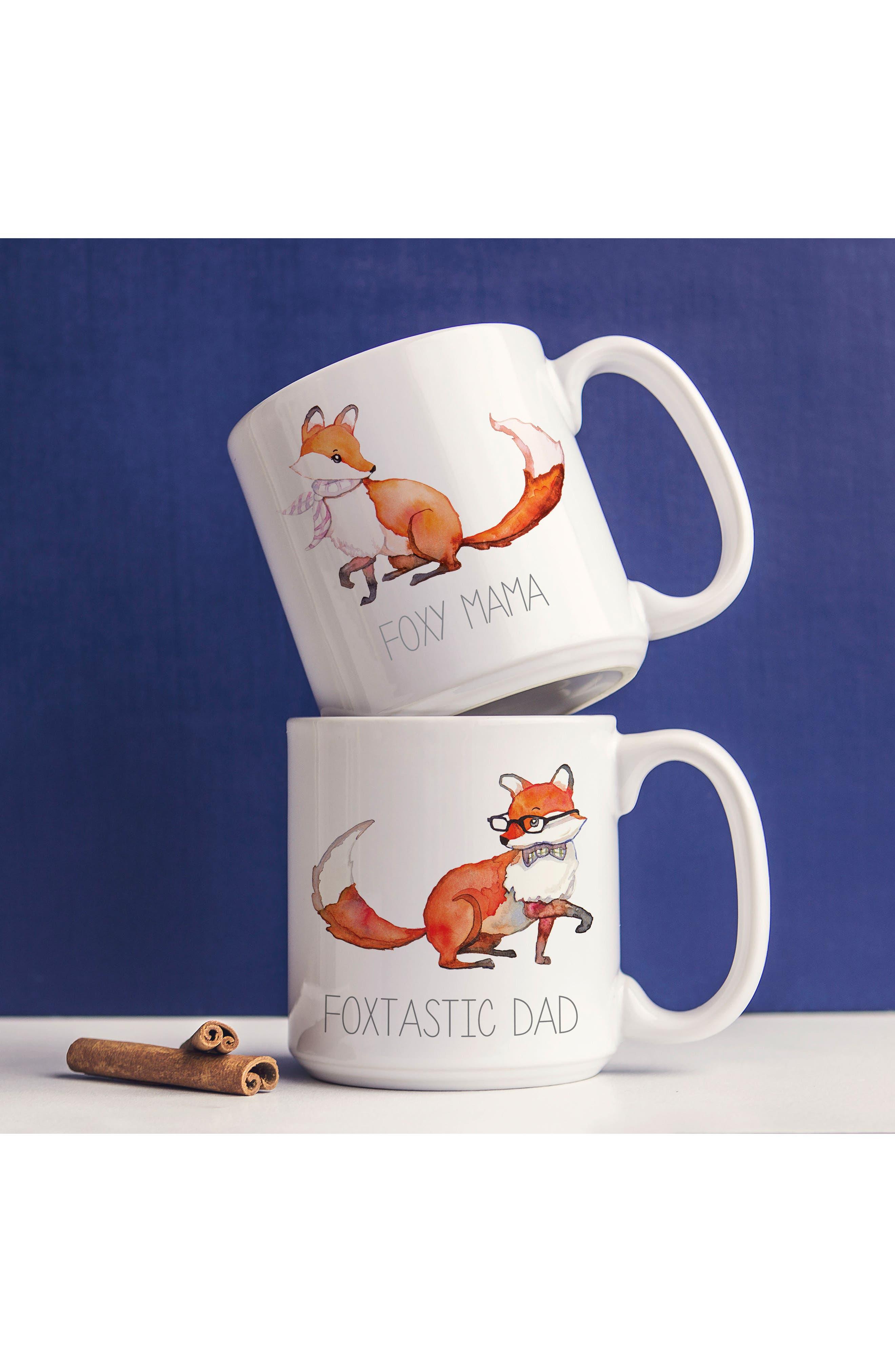 Mom & Dad Fox Set of 2 Coffee Mugs,                             Alternate thumbnail 9, color,                             100