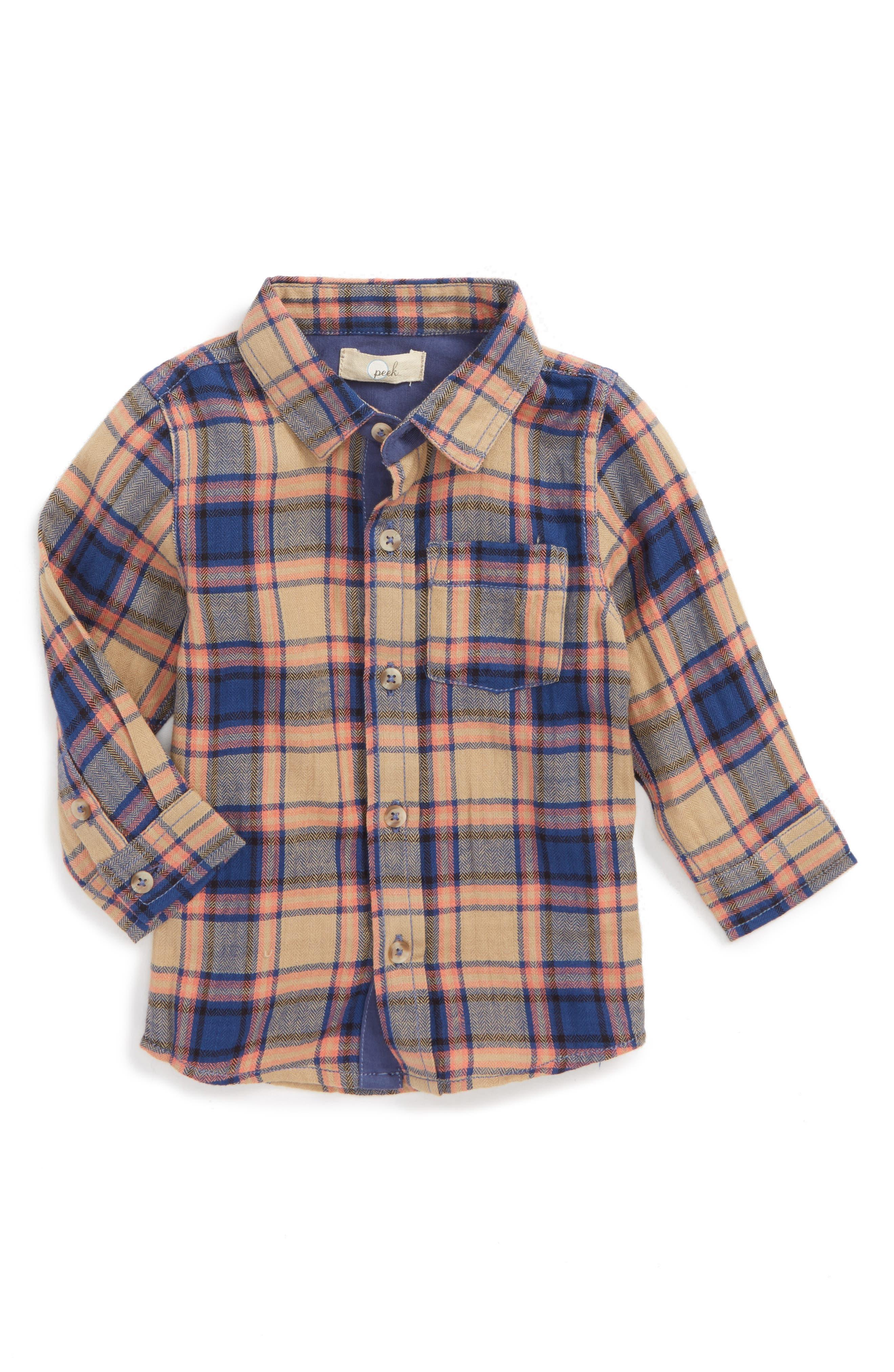 Henry Plaid Woven Shirt,                         Main,                         color,