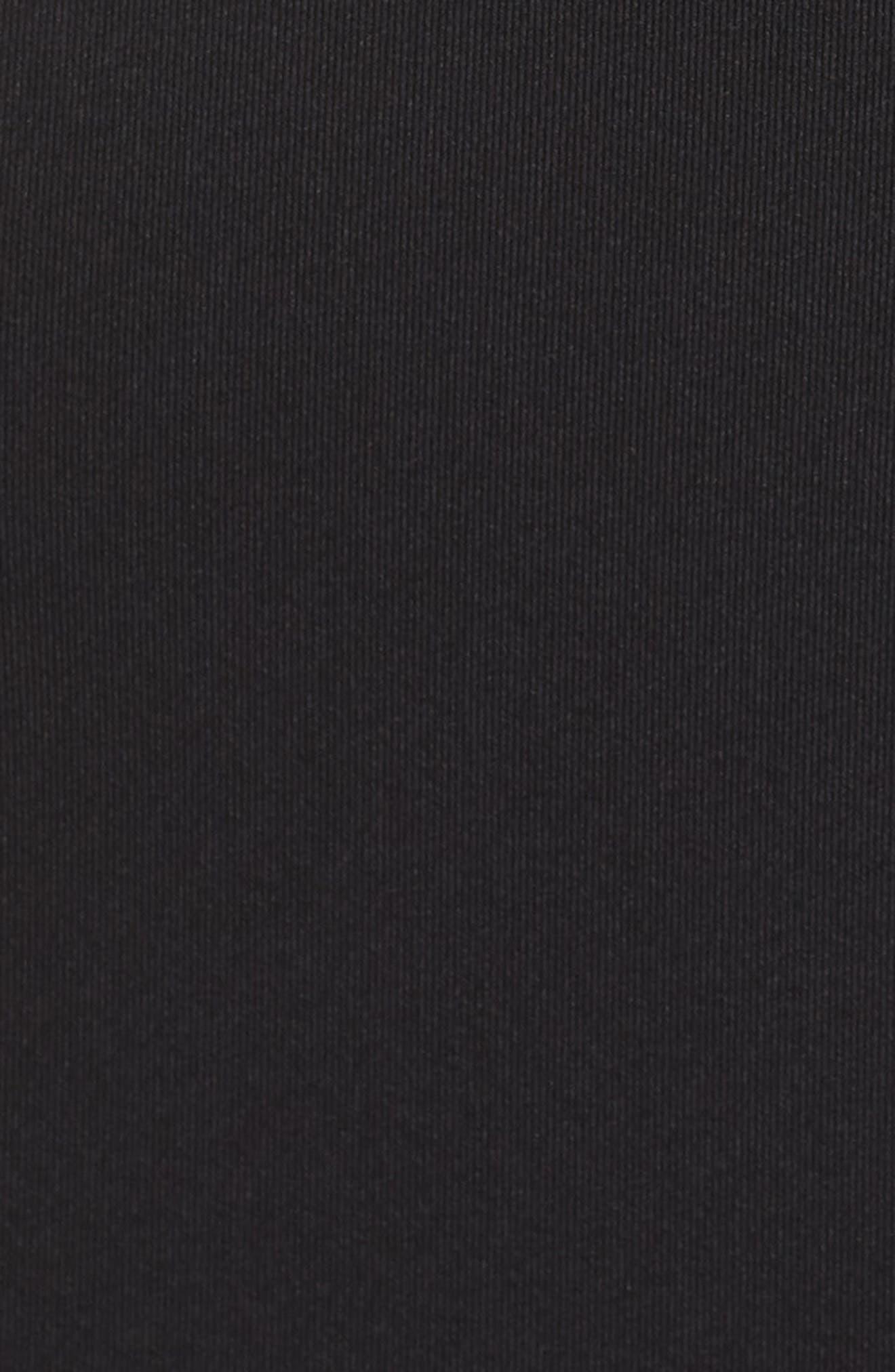 Embellished Illusion Body-Con Dress,                             Alternate thumbnail 5, color,                             BLACK