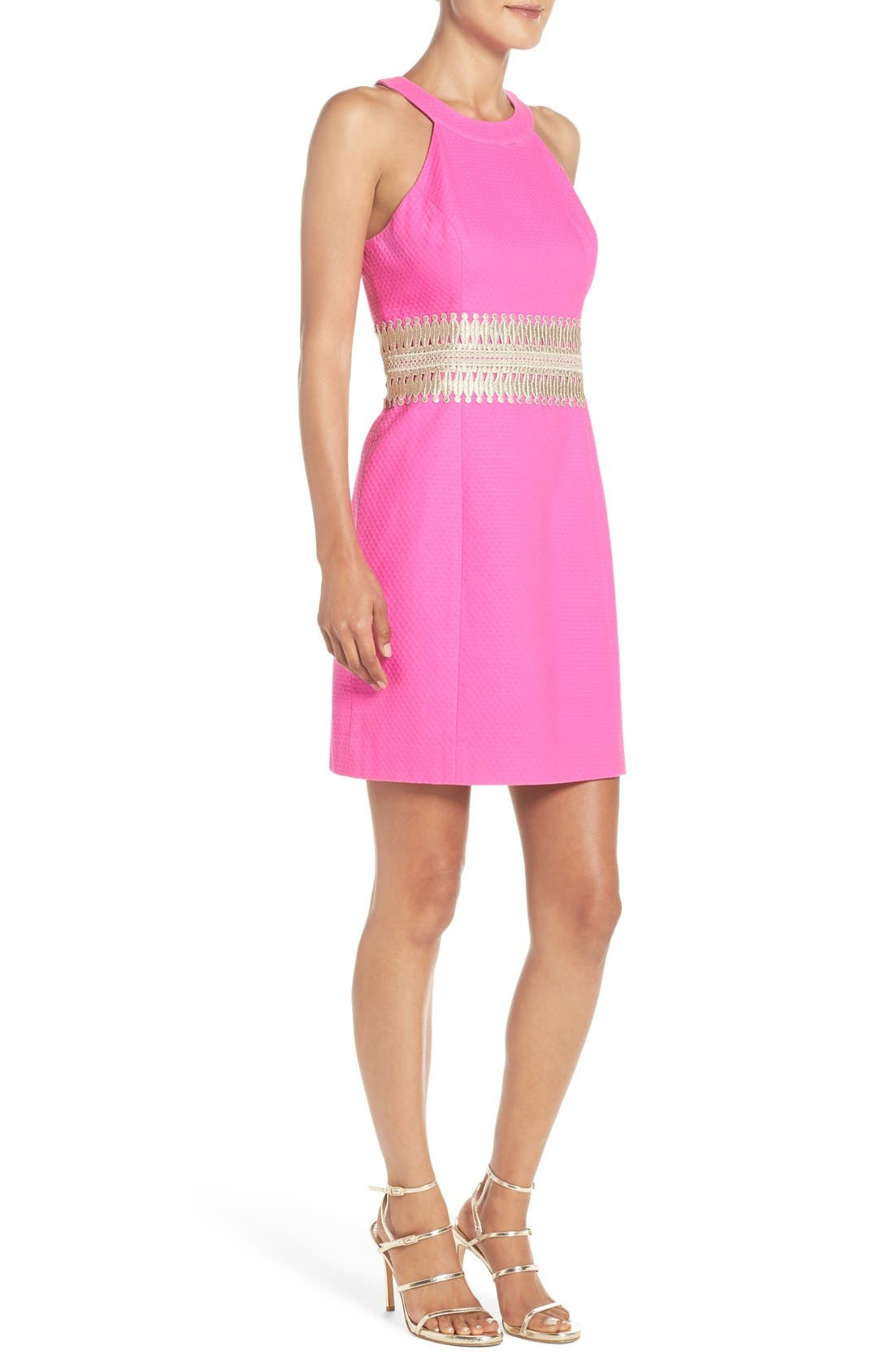 LILLY PULITZER<SUP>®</SUP>,                             'Ashlyn' Lace Waist Shift Dress,                             Alternate thumbnail 6, color,                             652