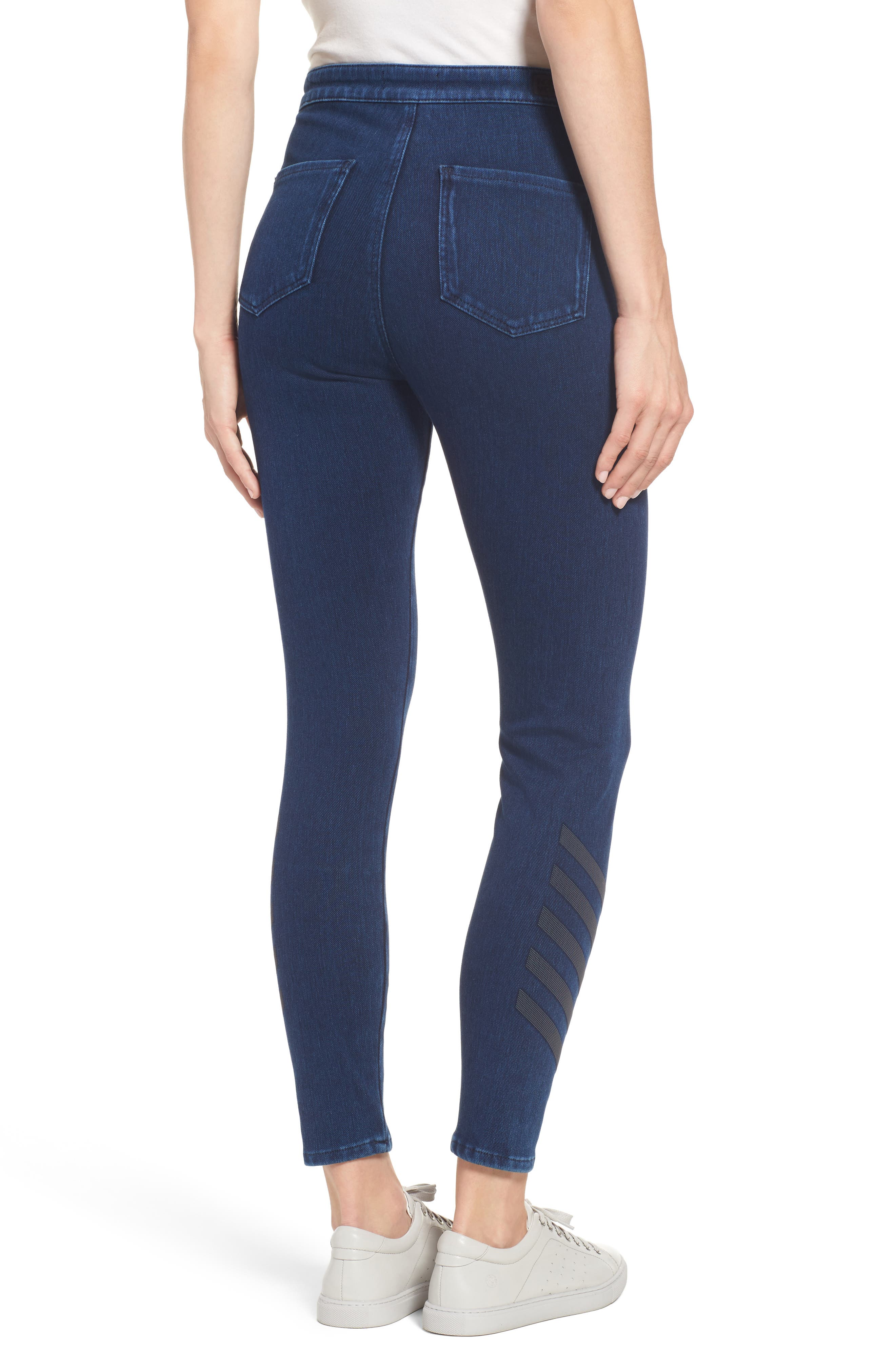Joie Embellished High Waist Skinny Jeans,                             Alternate thumbnail 2, color,                             401