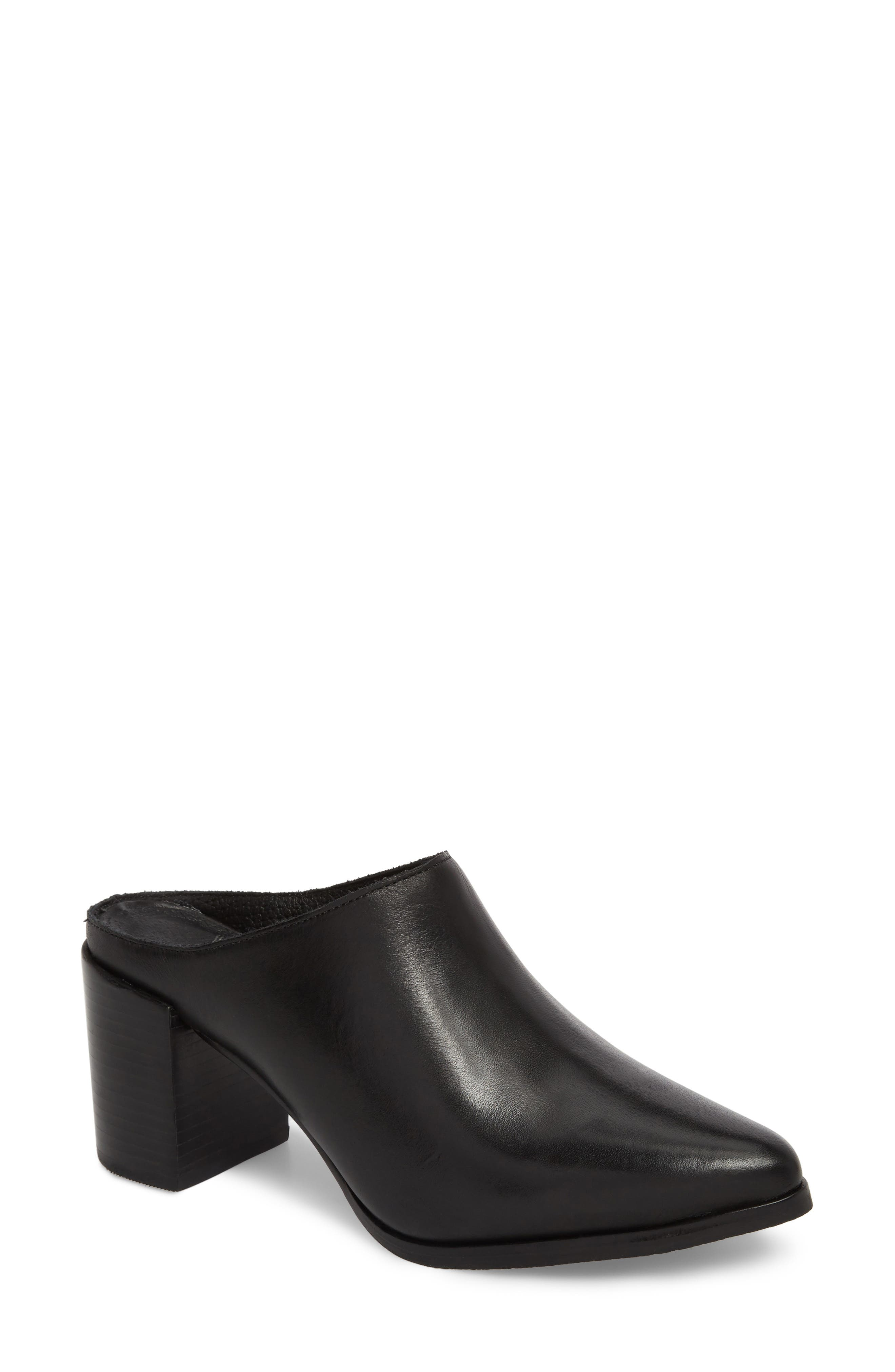 Amuse Society x Matisse Aria Mule,                             Main thumbnail 1, color,                             BLACK LEATHER