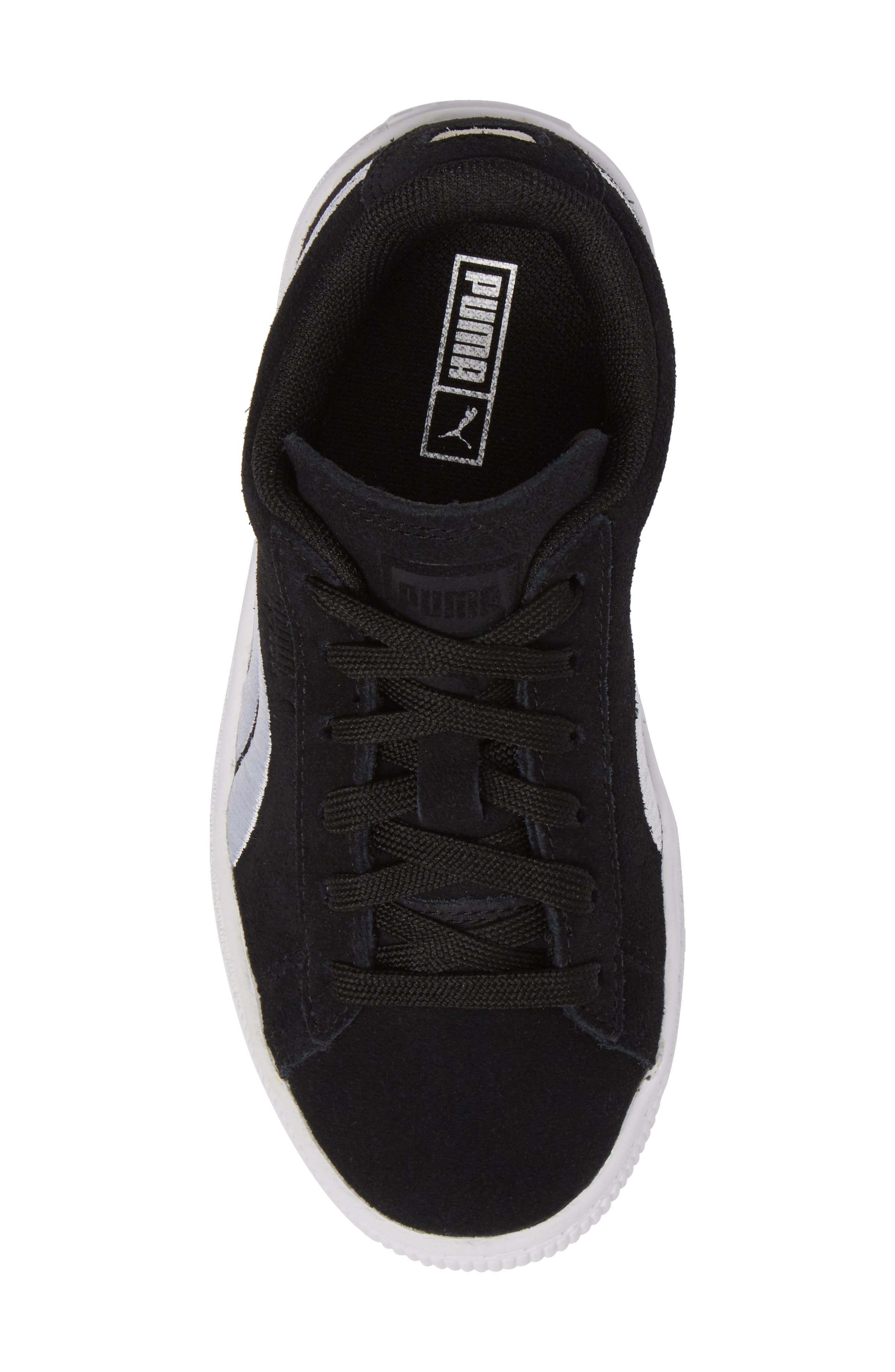 Suede Classic Badge Sneaker,                             Alternate thumbnail 5, color,                             001