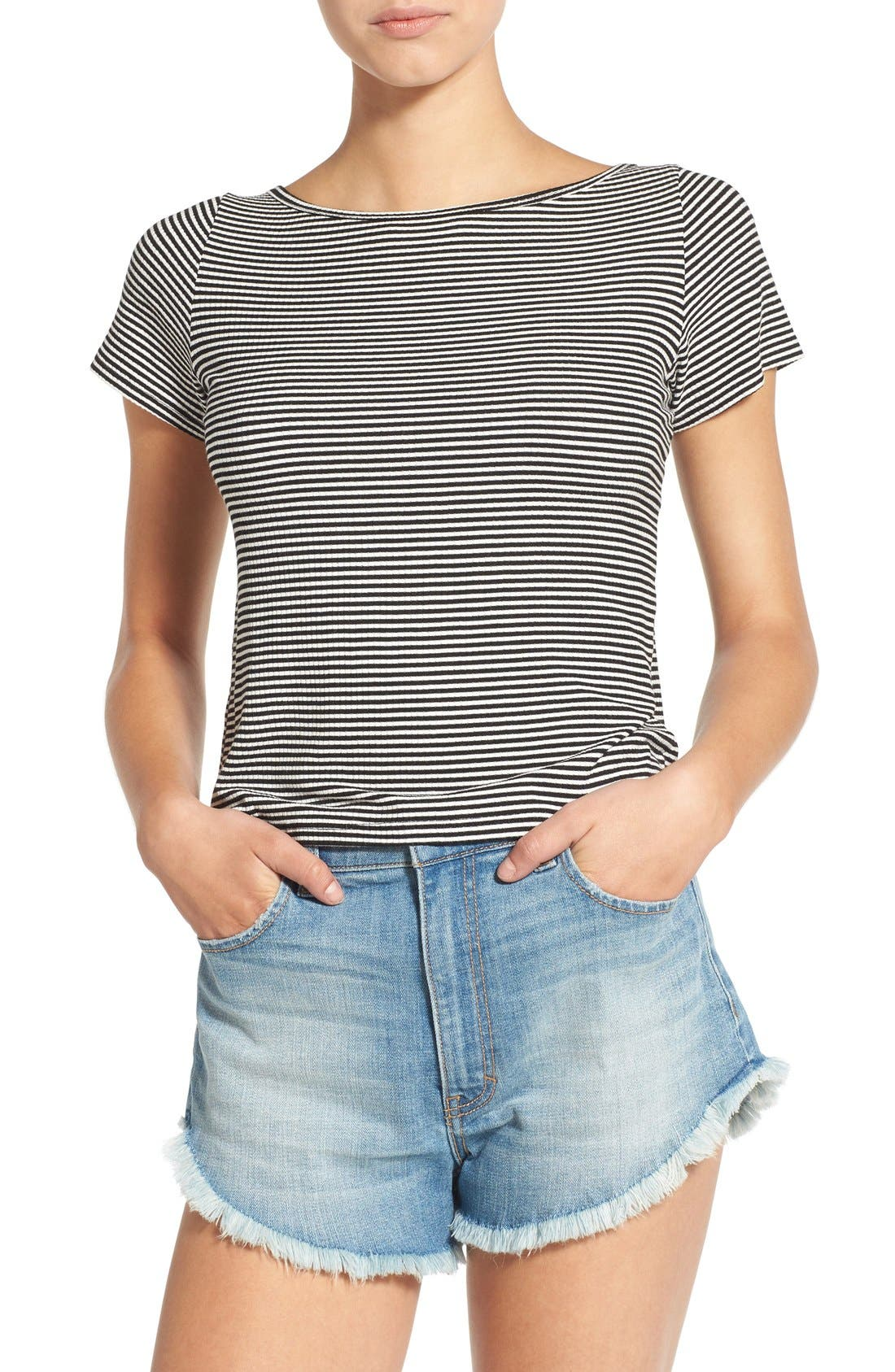 PST BY PROJECT SOCIAL T Project Social T Stripe Tee, Main, color, 001