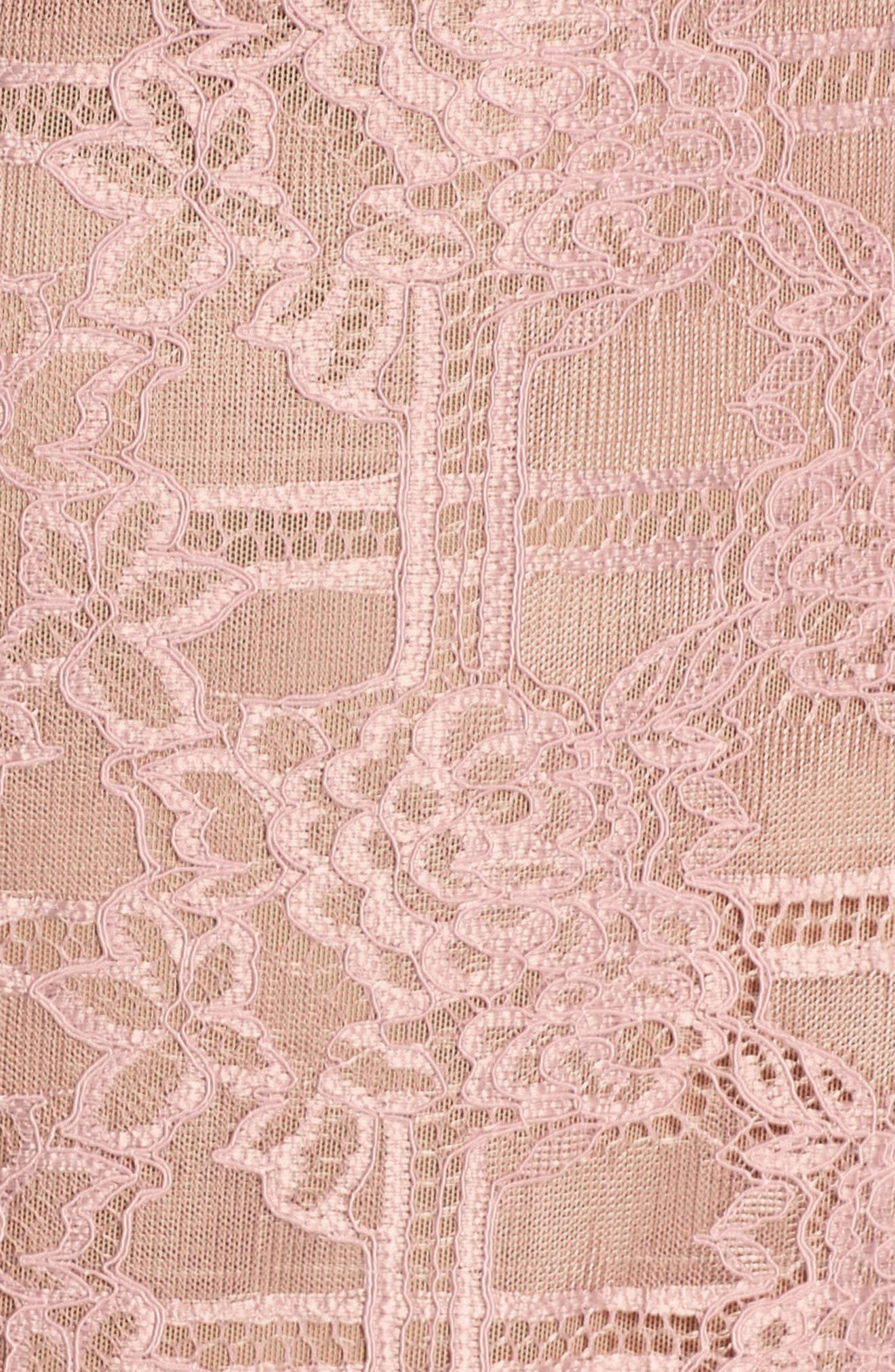 Natasha Asymmetrical Lace Dress,                             Alternate thumbnail 6, color,                             250