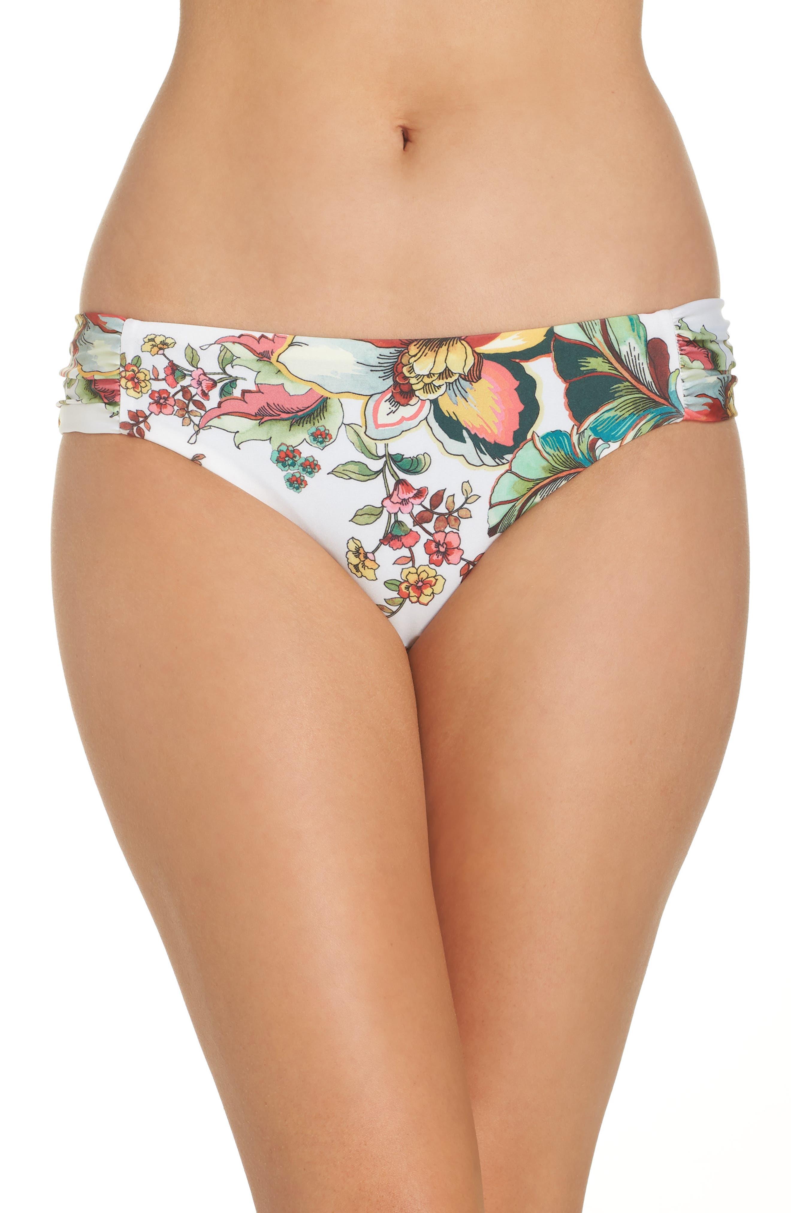 Becca Emma Reversible Bikini Bottoms, White