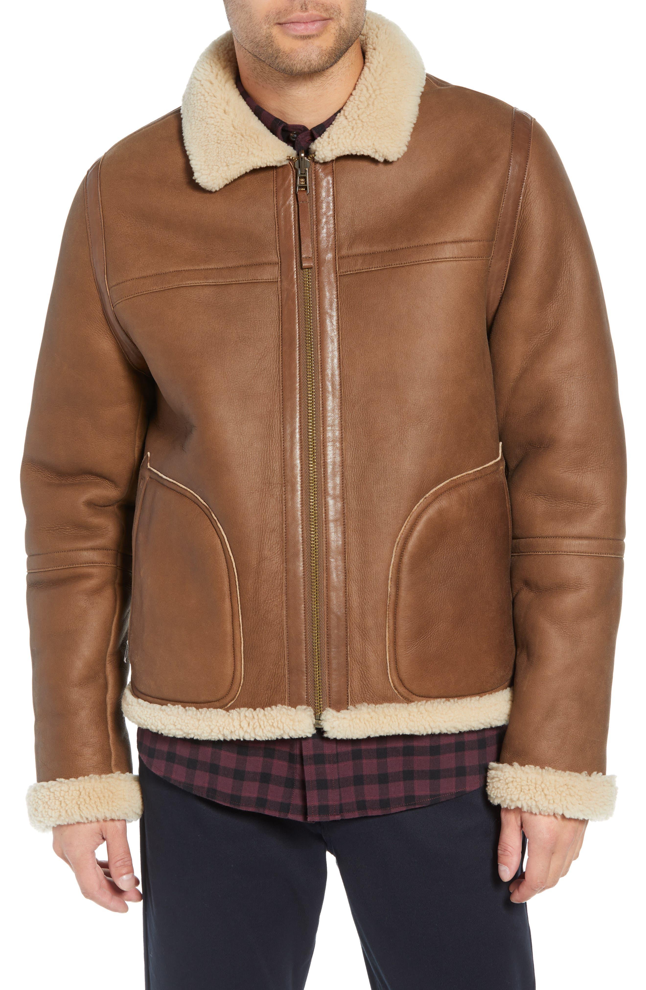 Reversible Genuine Shearling Jacket,                             Alternate thumbnail 5, color,                             117