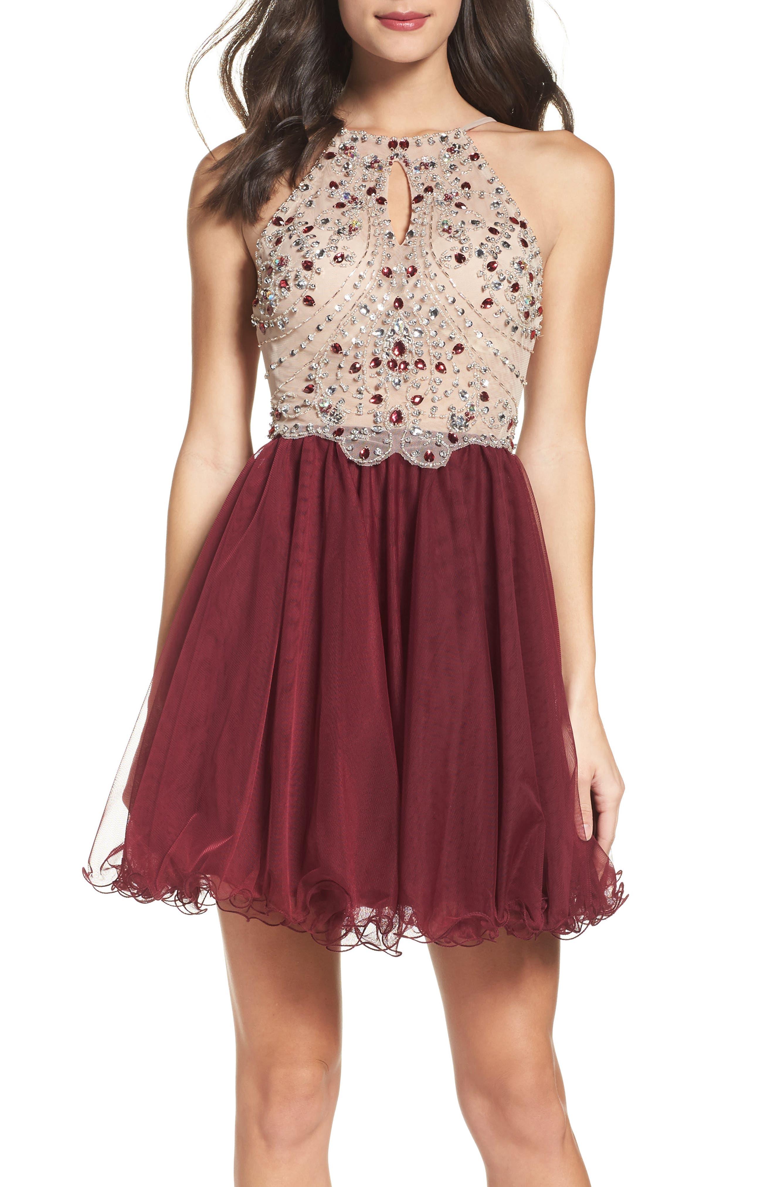 Fit & Flare Dress,                             Alternate thumbnail 5, color,                             649
