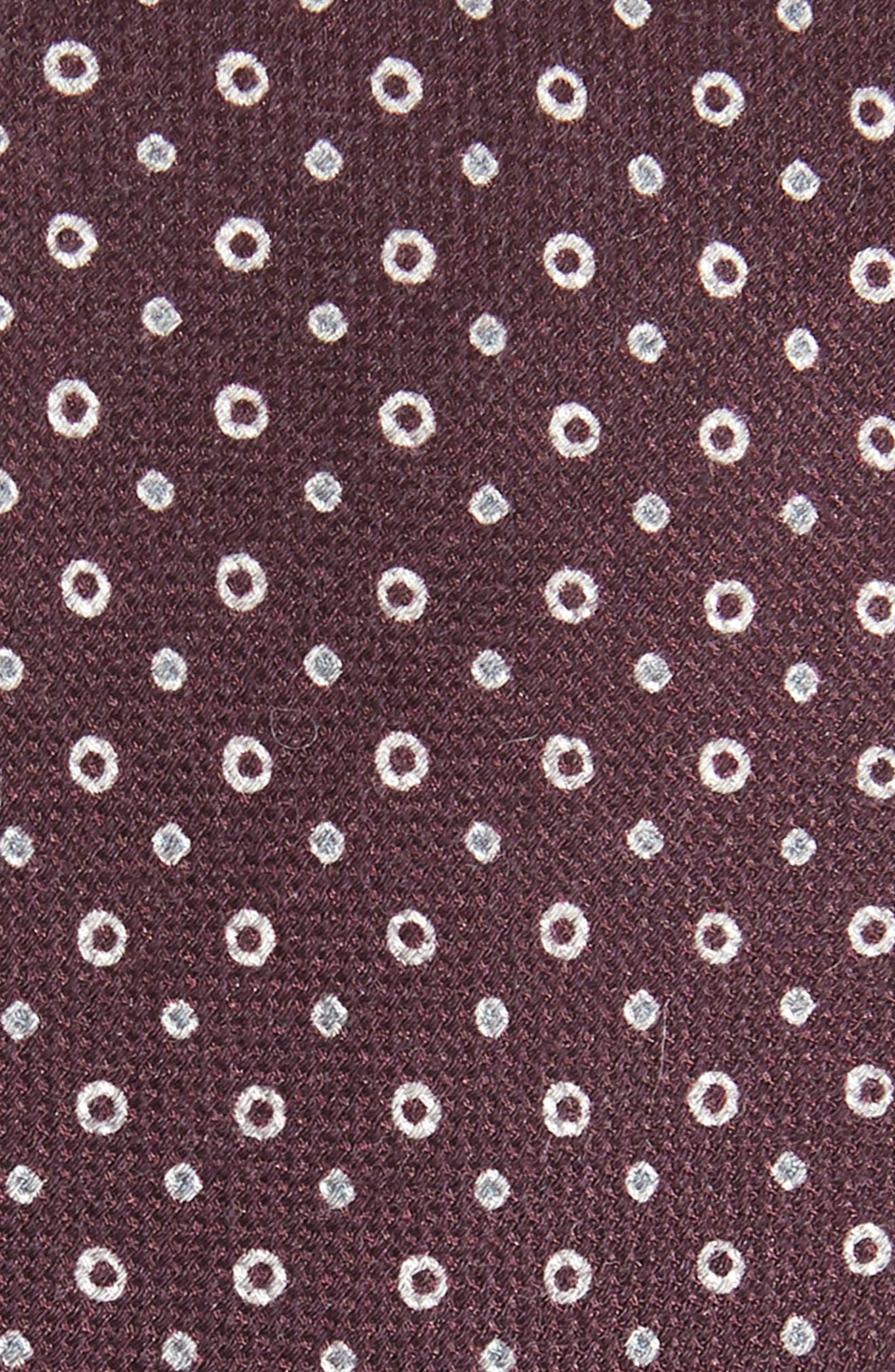 Dot Cotton & Silk Tie,                             Alternate thumbnail 2, color,                             DARK PURPLE