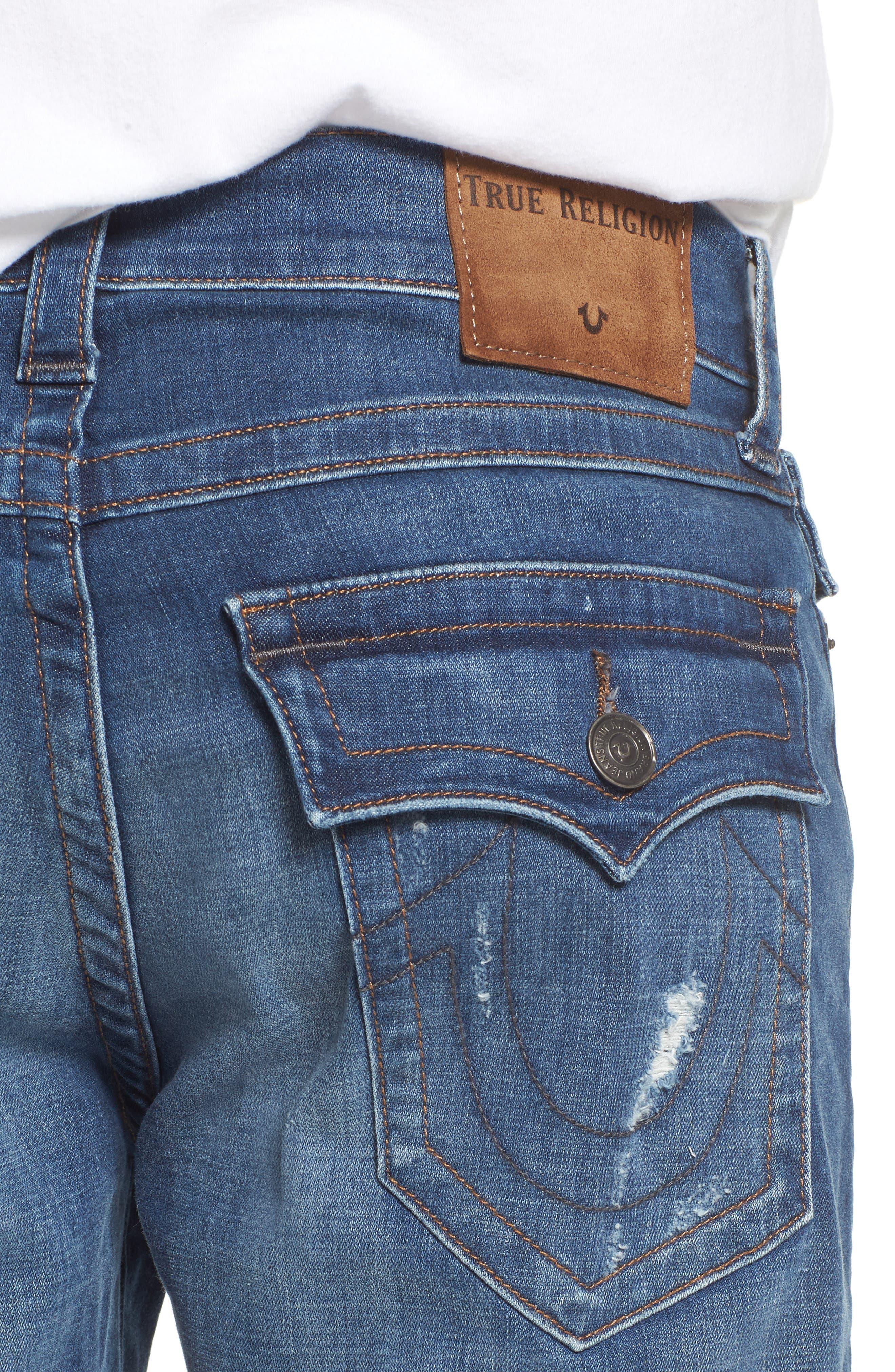 Geno Straight Leg Jeans,                             Alternate thumbnail 4, color,