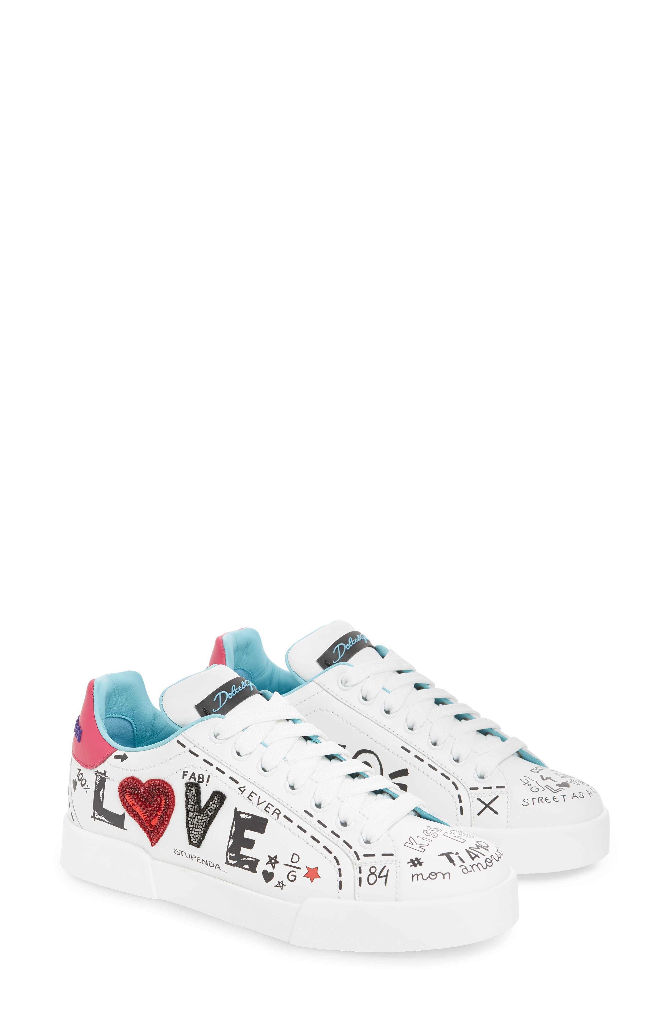 Love Lace-Up Sneaker,                             Alternate thumbnail 2, color,                             WHITE