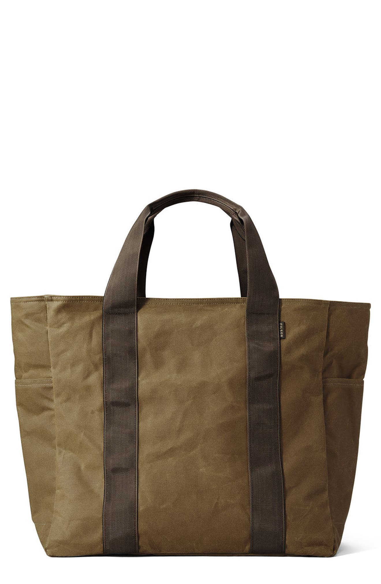Large Grab 'n' Go Tote Bag,                         Main,                         color, DARK TAN/ BROWN