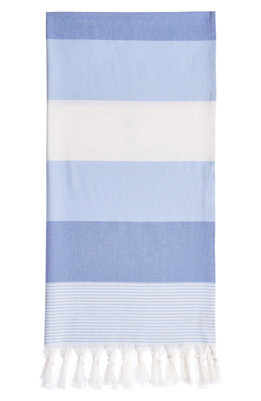 'Sea Waves' Turkish Pestemal Towel,                             Main thumbnail 1, color,                             400