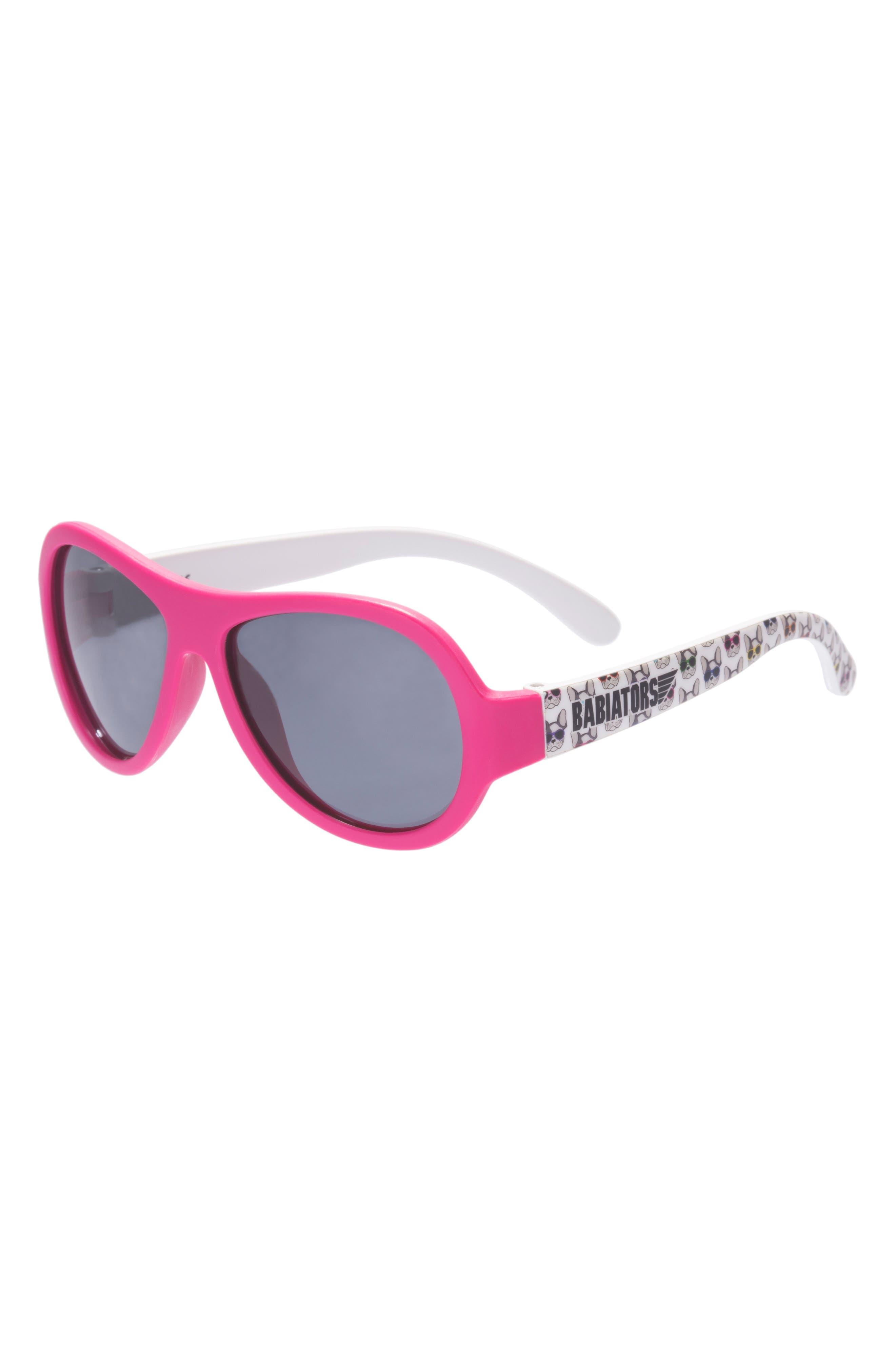 Puppy Print Polarized Aviator Sunglasses,                         Main,                         color, PUPPY LOVE