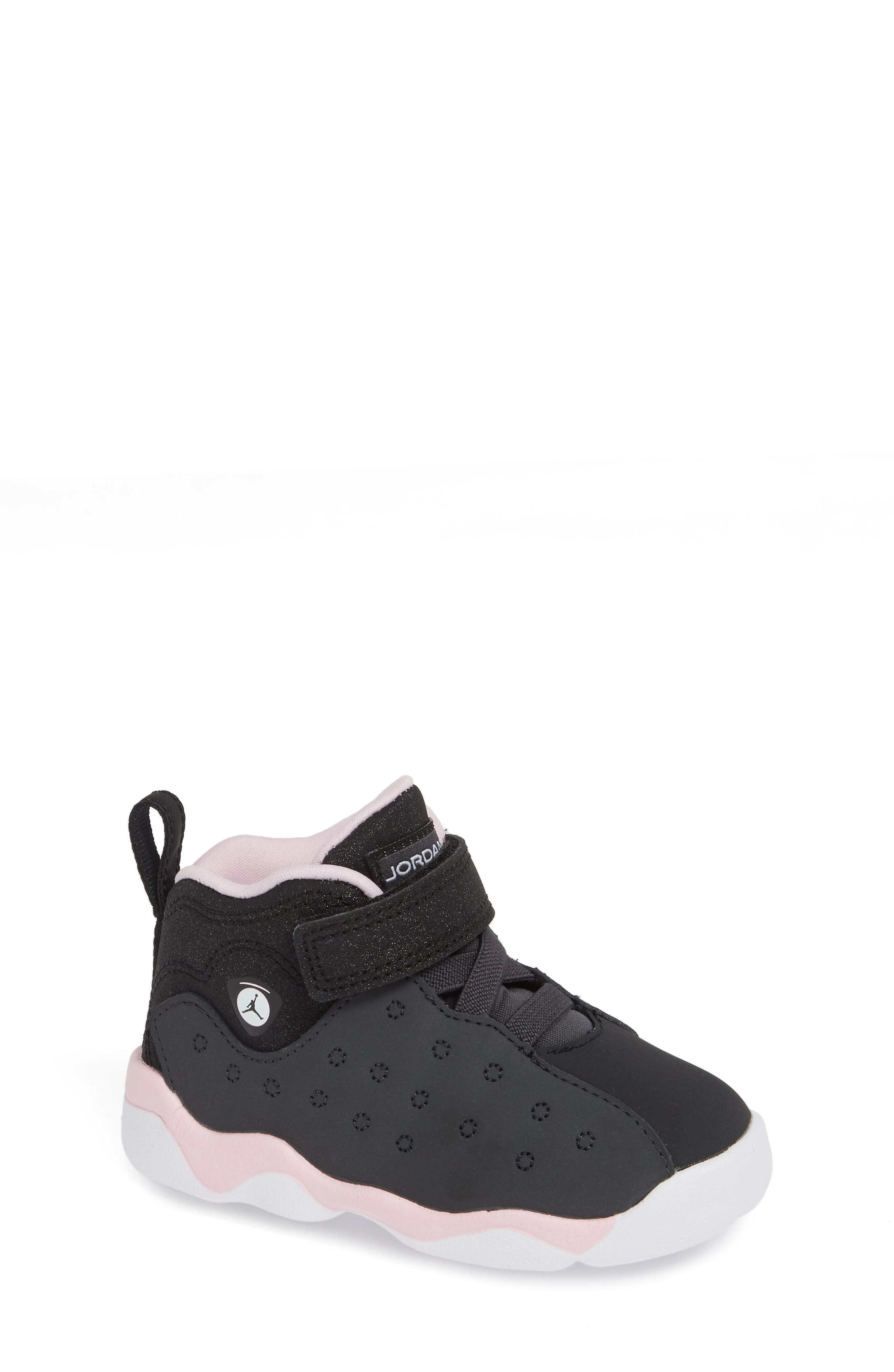 Jumpman Team II Sneaker,                             Main thumbnail 1, color,                             ANTHRACITE/ BLACK-PINK -WHITE