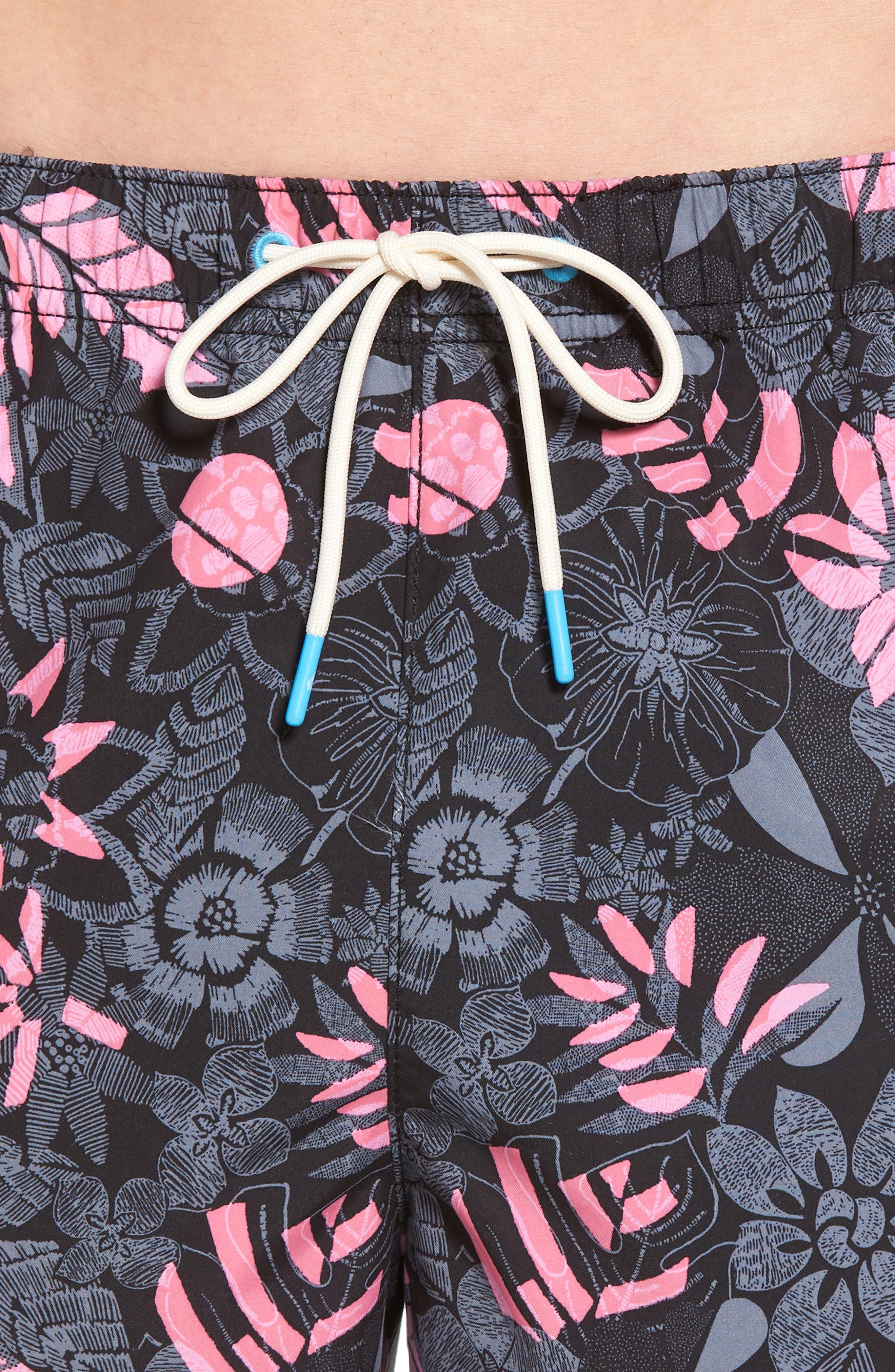 Naples Subtropical Palm Swim Trunks,                             Alternate thumbnail 4, color,